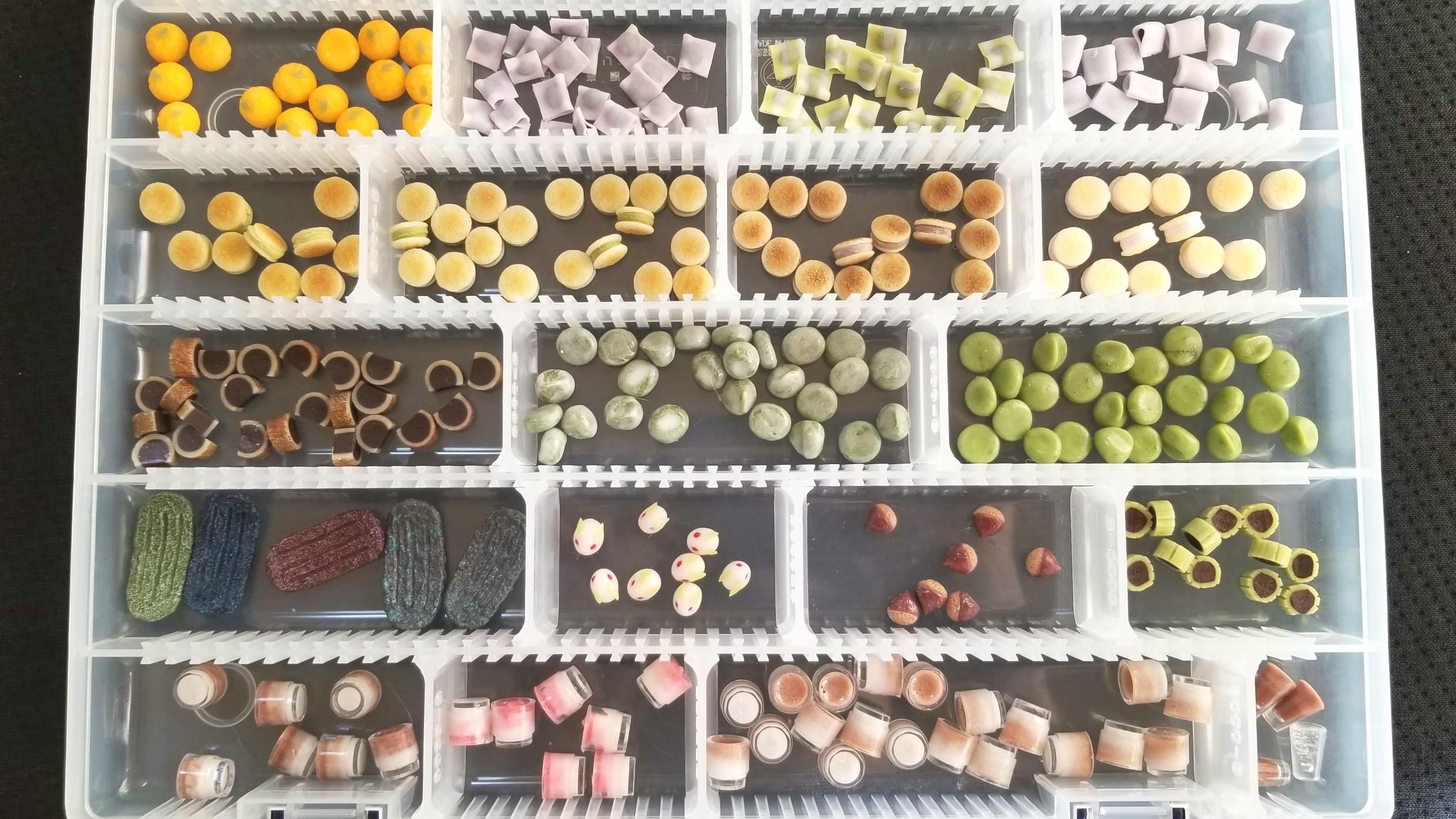 作品,量産,大量,ミニチュア,ジュース,和菓子,ドールハウス,オーレ