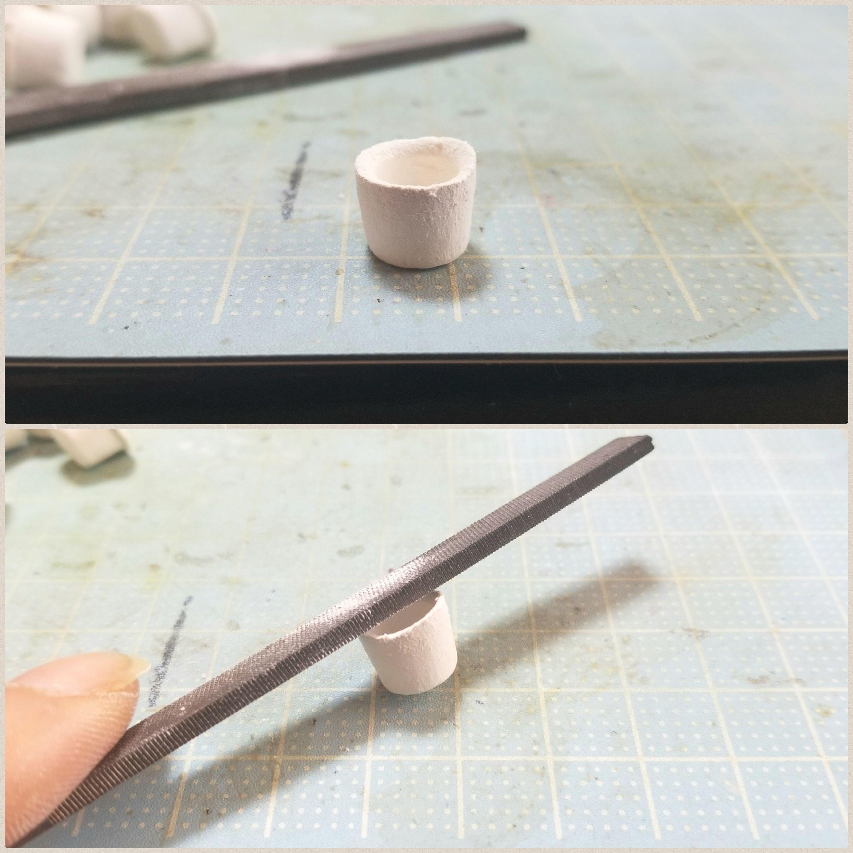 ミニチュア湯呑みの作り方,石塑粘土アート,ハンドメイド,丁寧な仕事