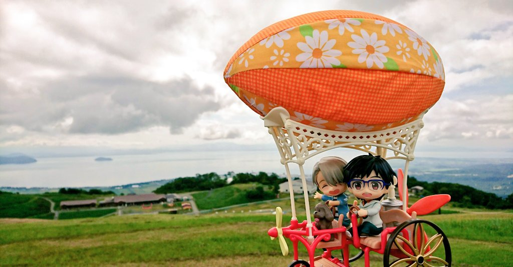 気球に乗った,大草原を走る,素敵な景色,綺麗な,楽しい,ねんどろいど