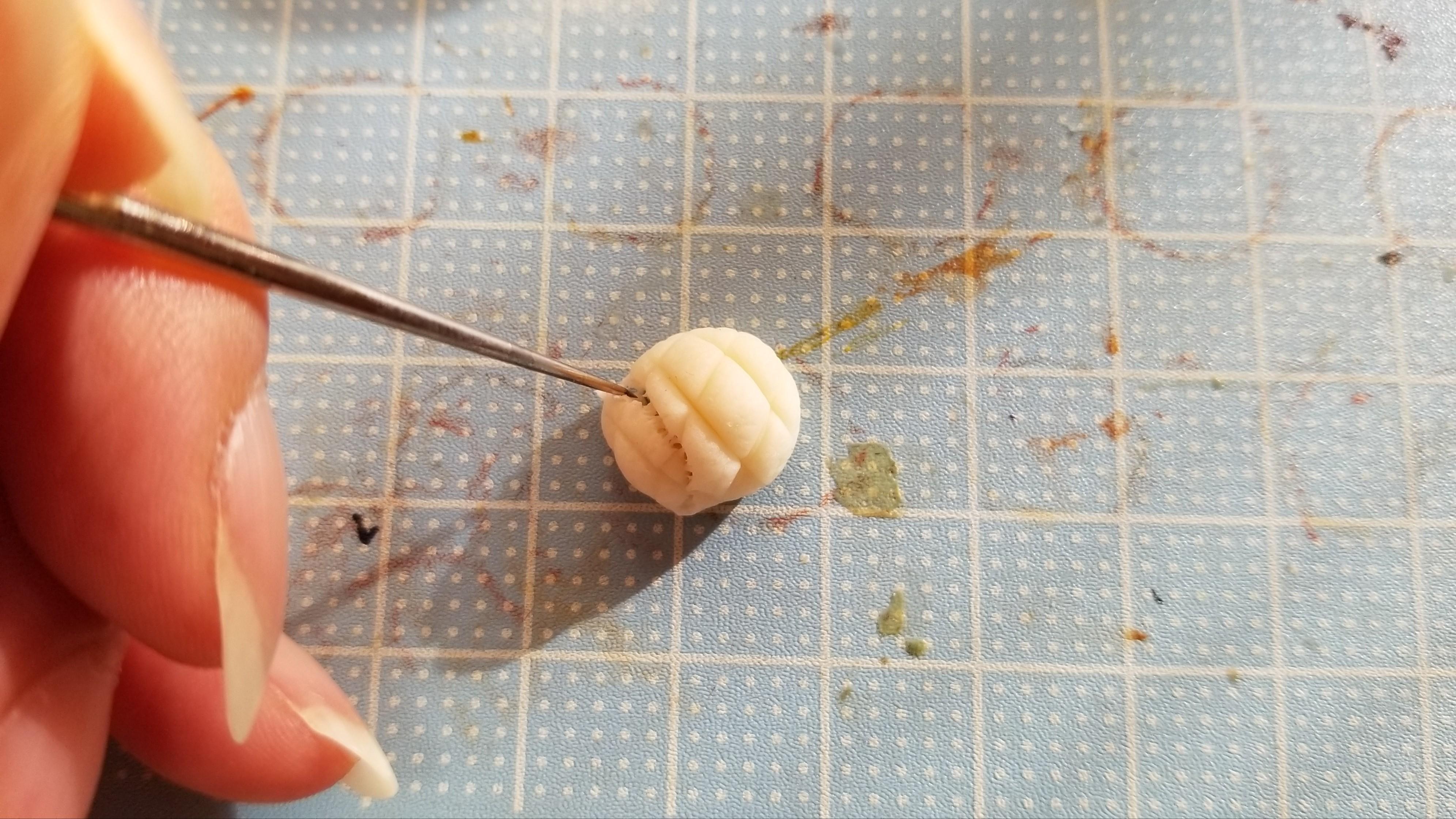 ミニチュアフードメロンパンの作り方樹脂粘土ハンドメイドブログ