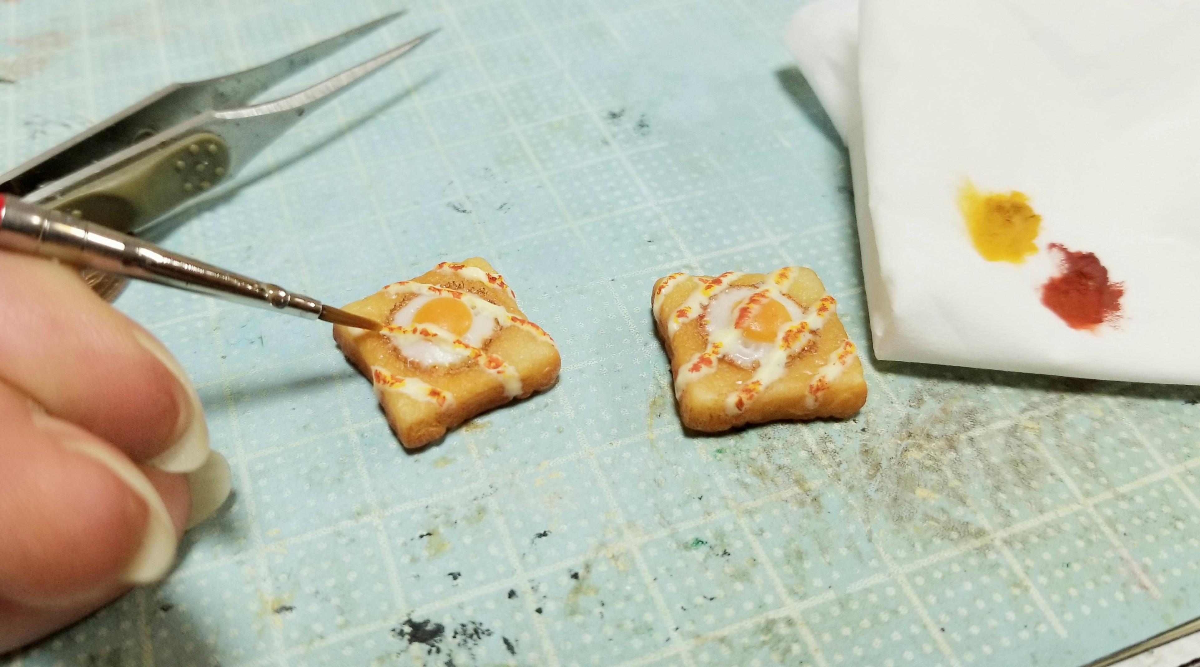 ミニチュアフード食パントースト作り方樹脂粘土小さいかわいい物好き