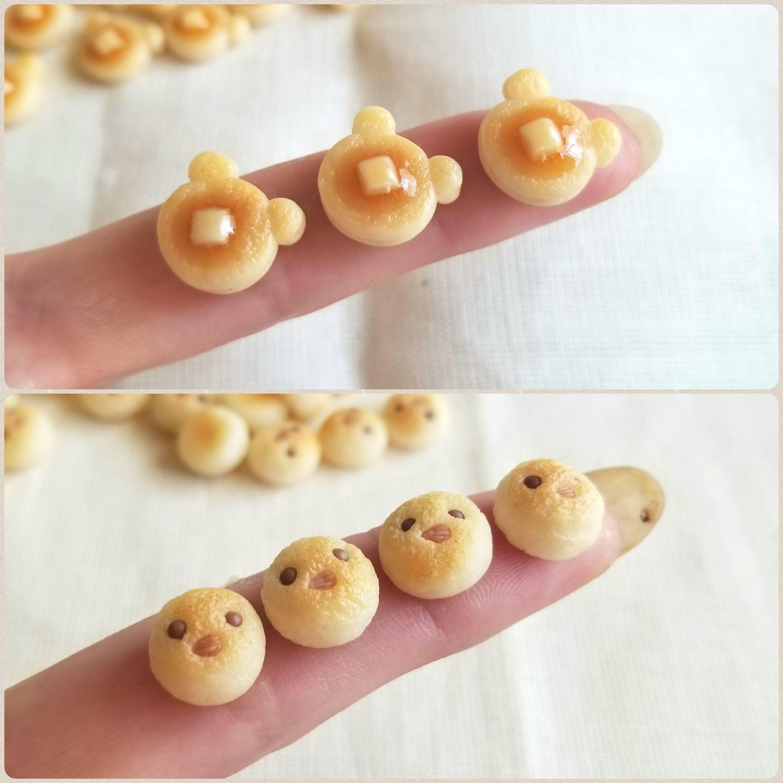 ミニチュアフード,くまパン,ひよこパン,かわいい,ドール小物おもちゃ