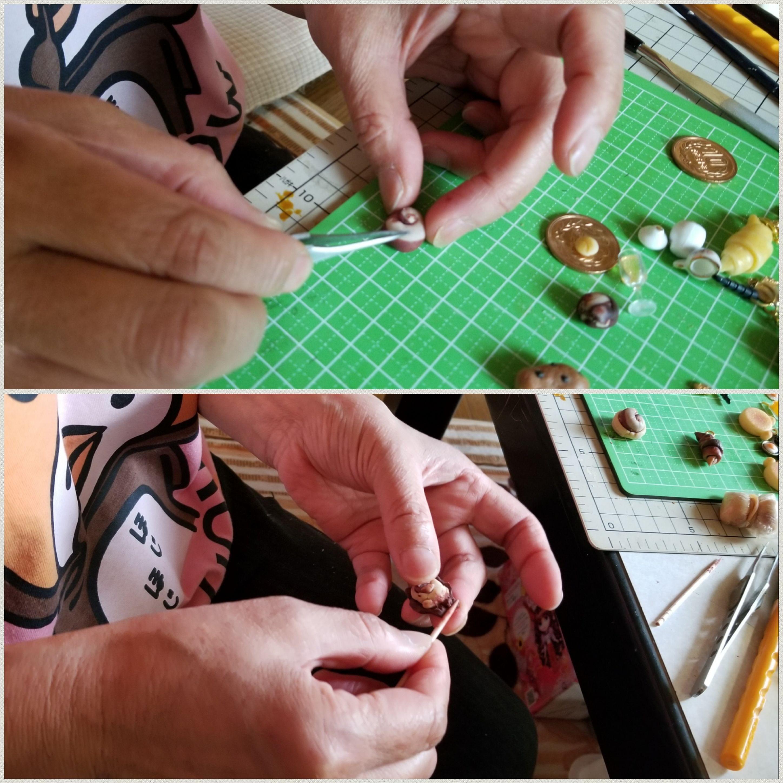 おば一生懸命やるミニチュア手作りする楽しいドハマりハンドメイド
