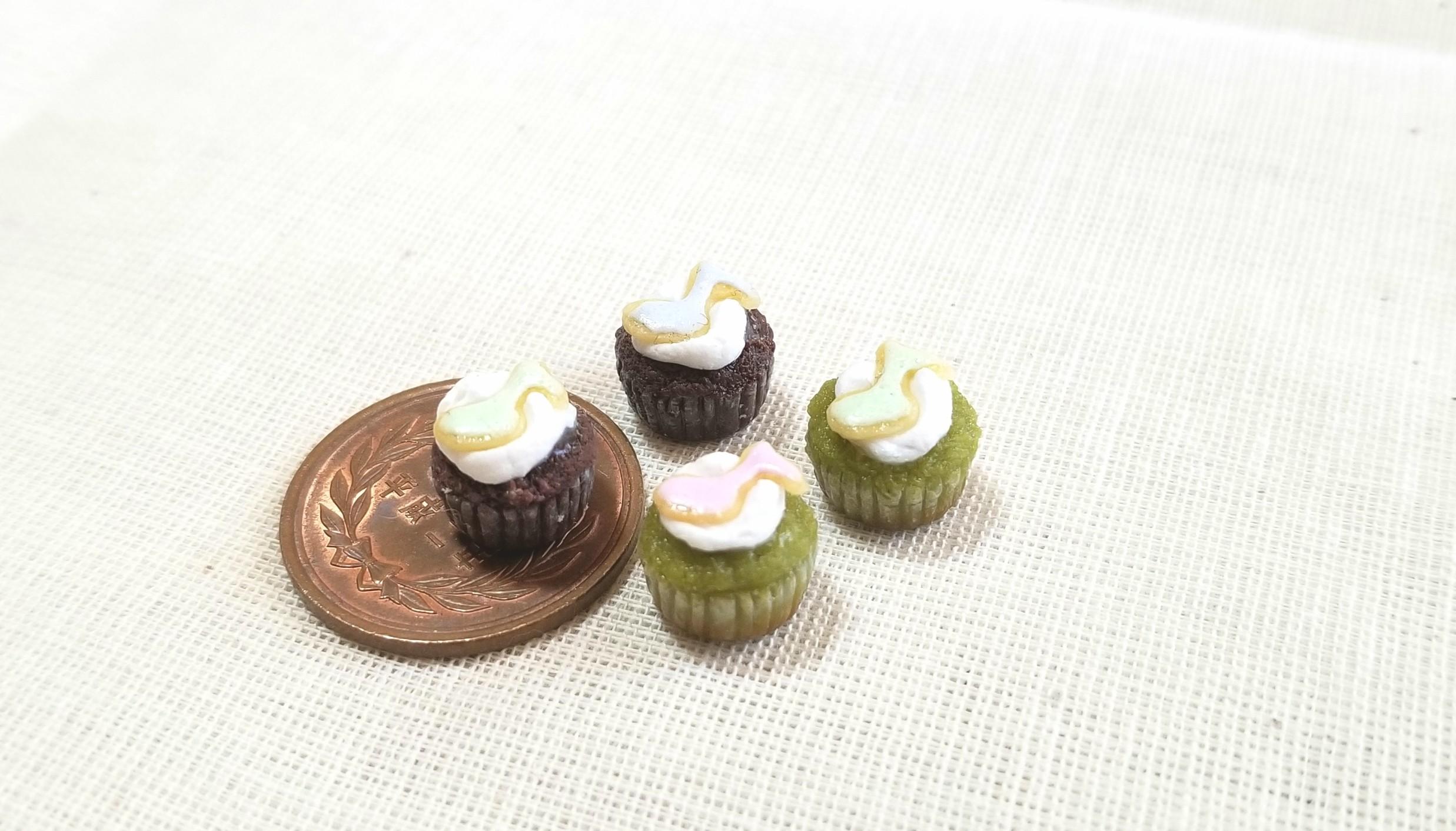 カップケーキ,アイシングクッキー,樹脂粘土,ミニチュアフード,オビツ