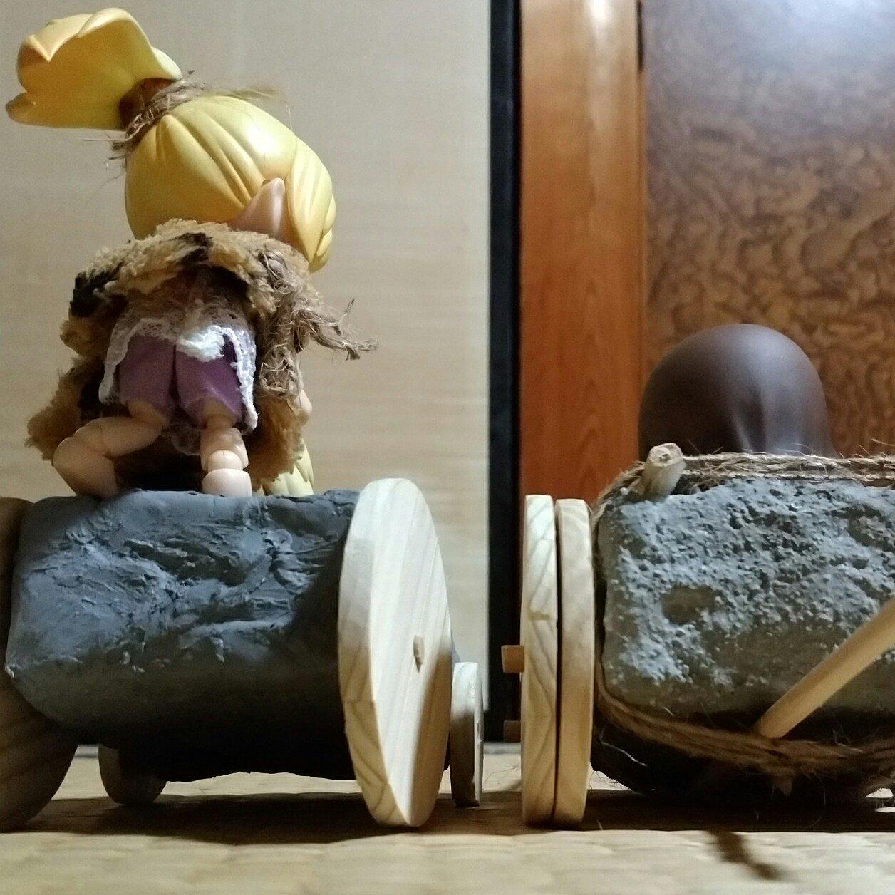 キューポッシュ,カーチェイス原始人,ネタ群居ドール流行人形おもちゃ