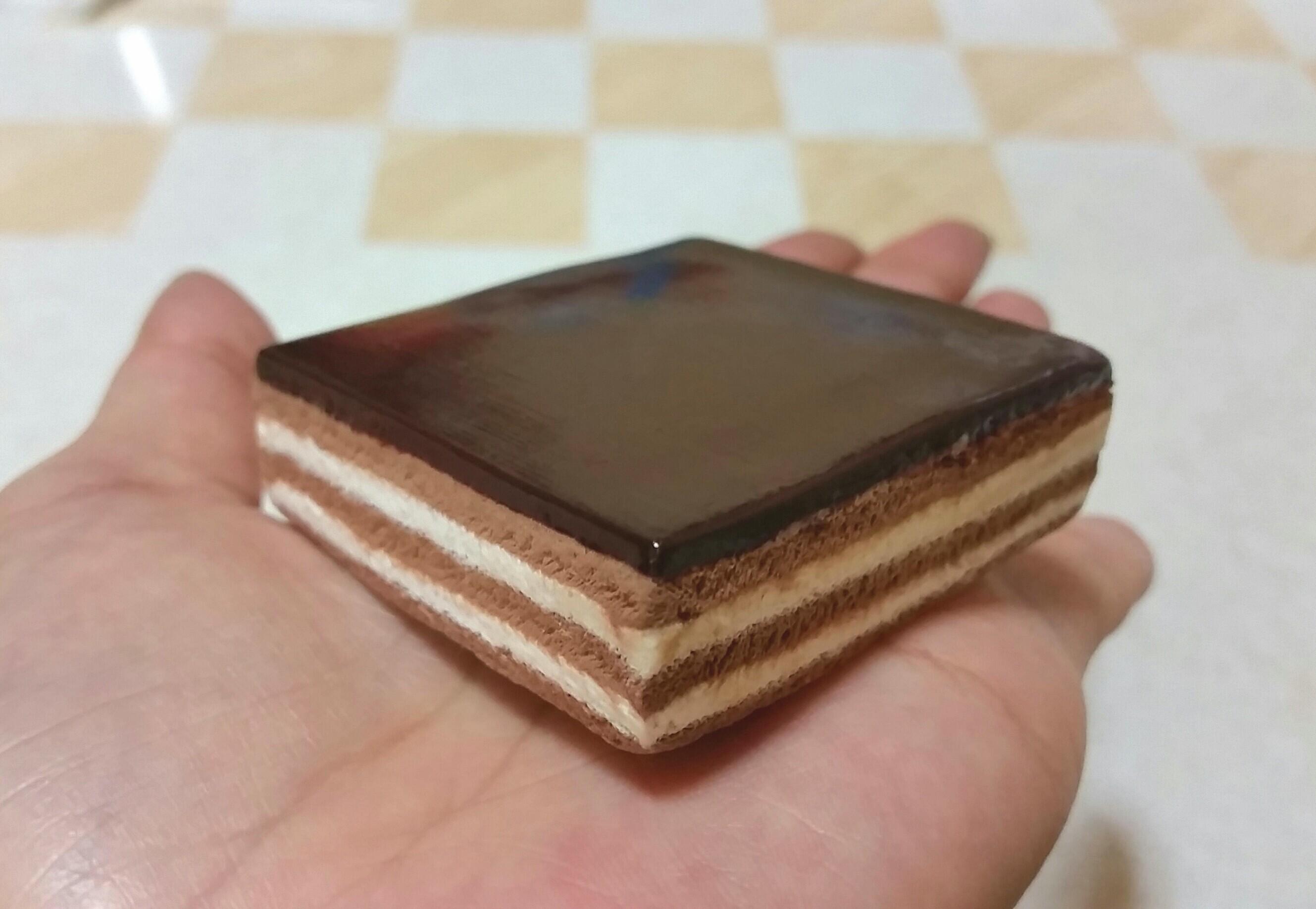フェイクフード,食品サンプル,美味しいチョコレートケーキ,樹脂粘土