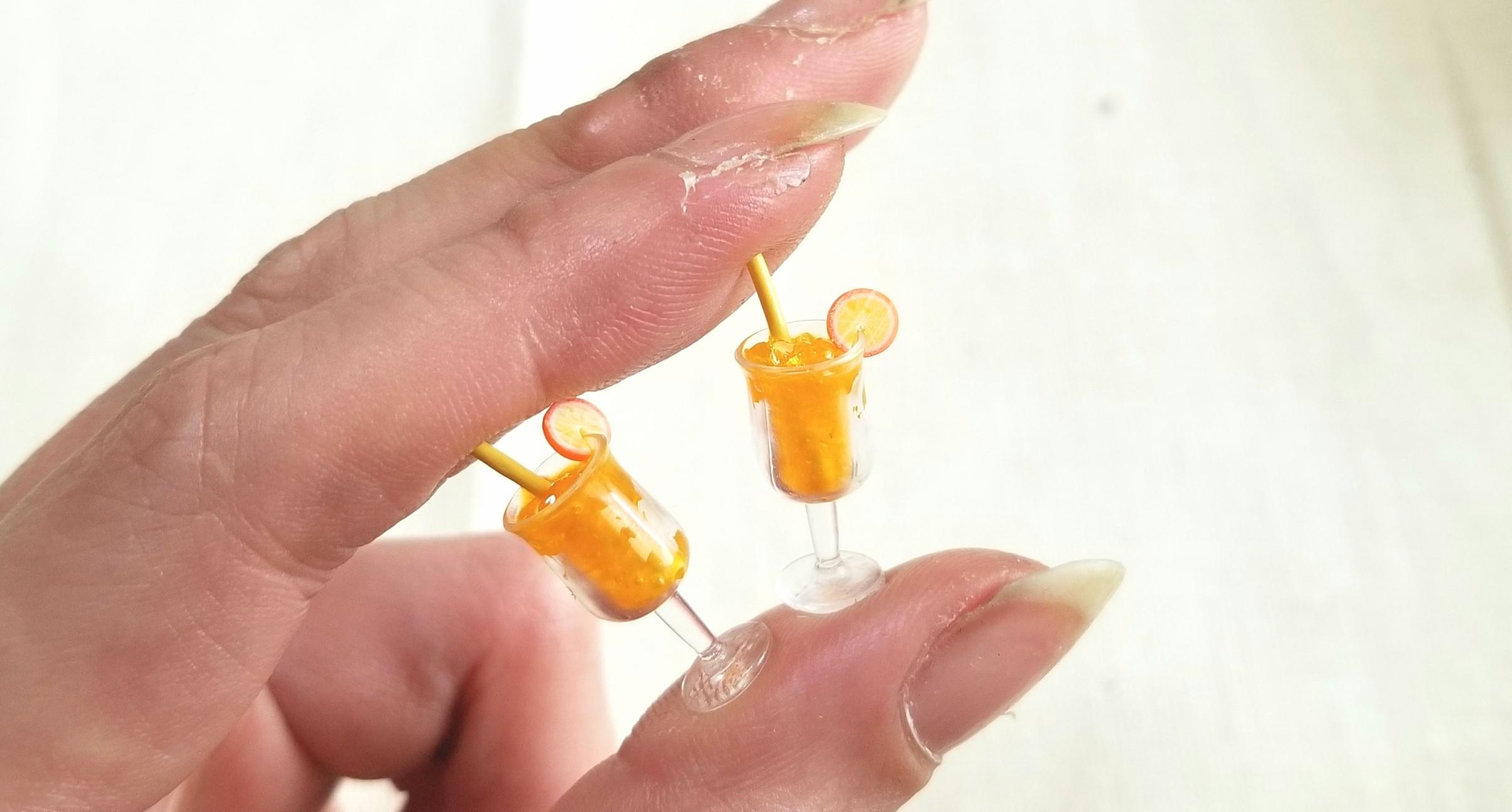 オレンジジュース,ミニチュア,レジン,オビツろいど,キューポッシュ