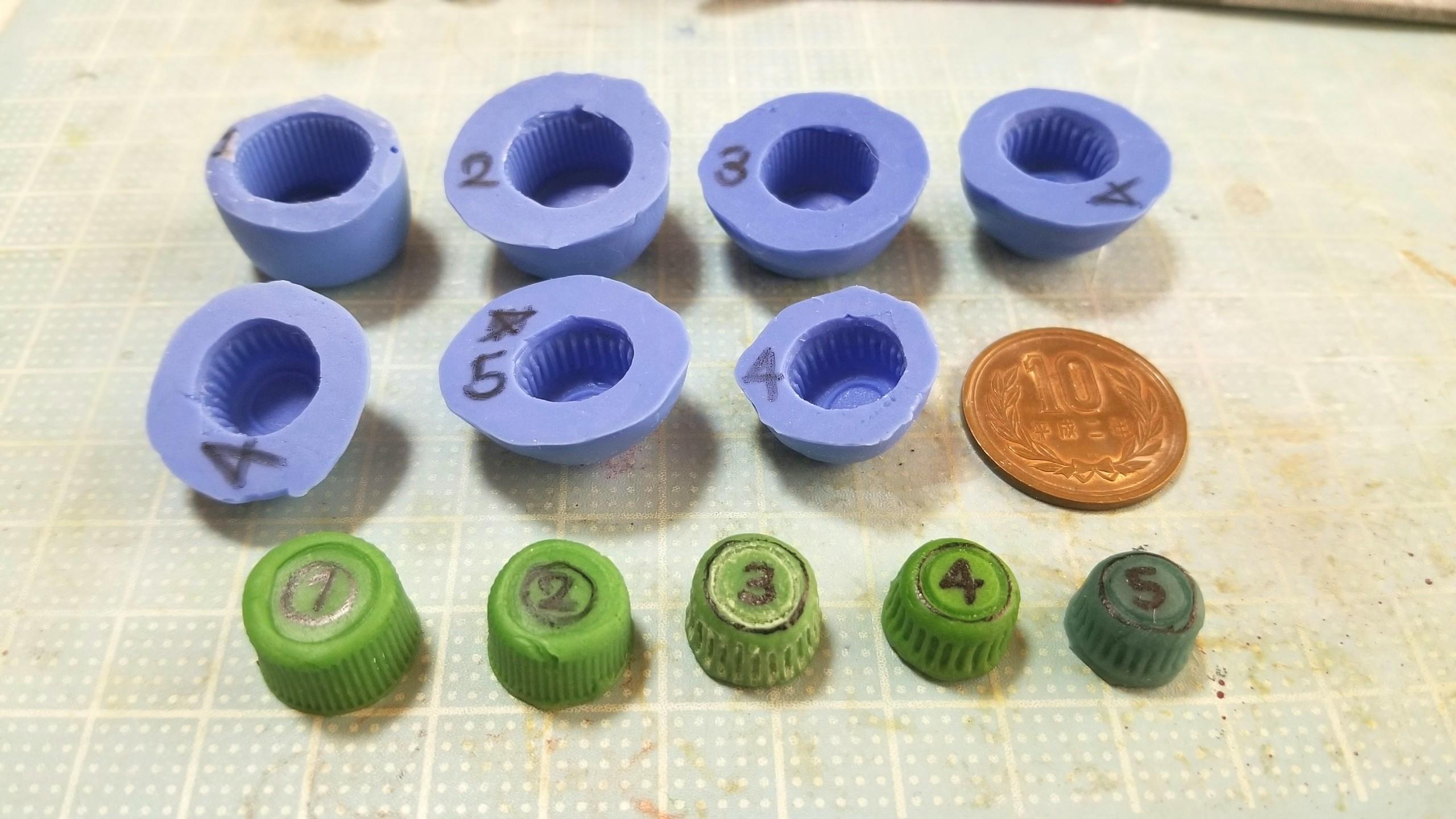 ミニチュア,コップ,マグカップの原型,作り方,樹脂粘土,フェイク,食玩