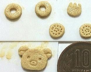 ミニチュアフード,クマちゃんクッキーの原型,エポキシパテ,作り方