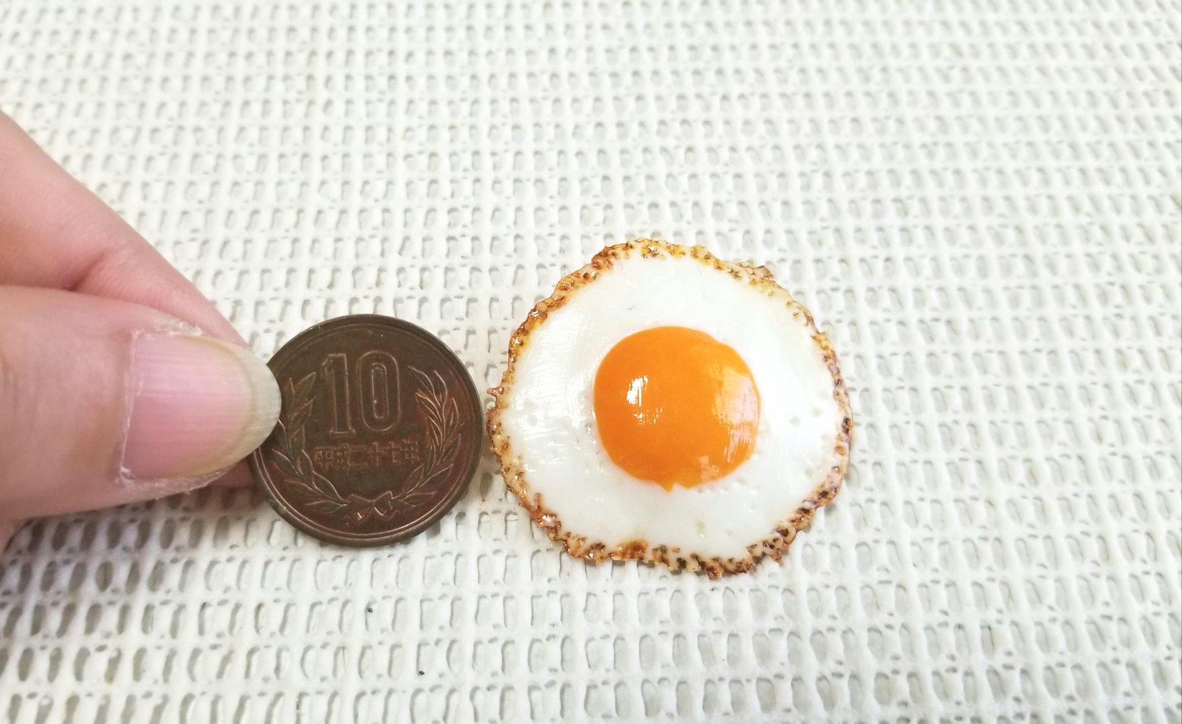 ミニチュア, 目玉焼きブローチ, フェイクフード, アクセサリー