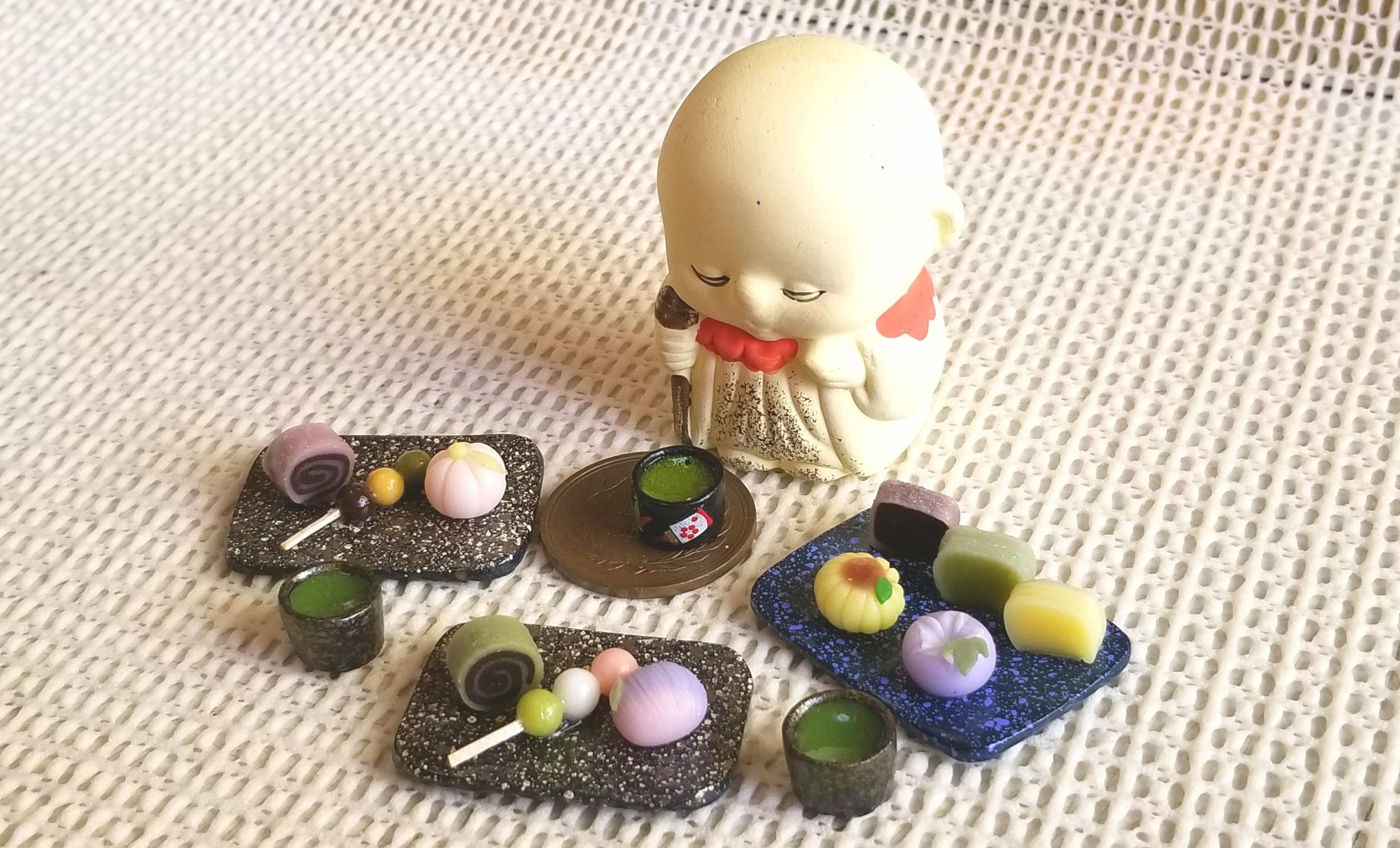 和菓子,美味,ミニチュア,ミニチュアフード,樹脂粘土,ハンドメイド
