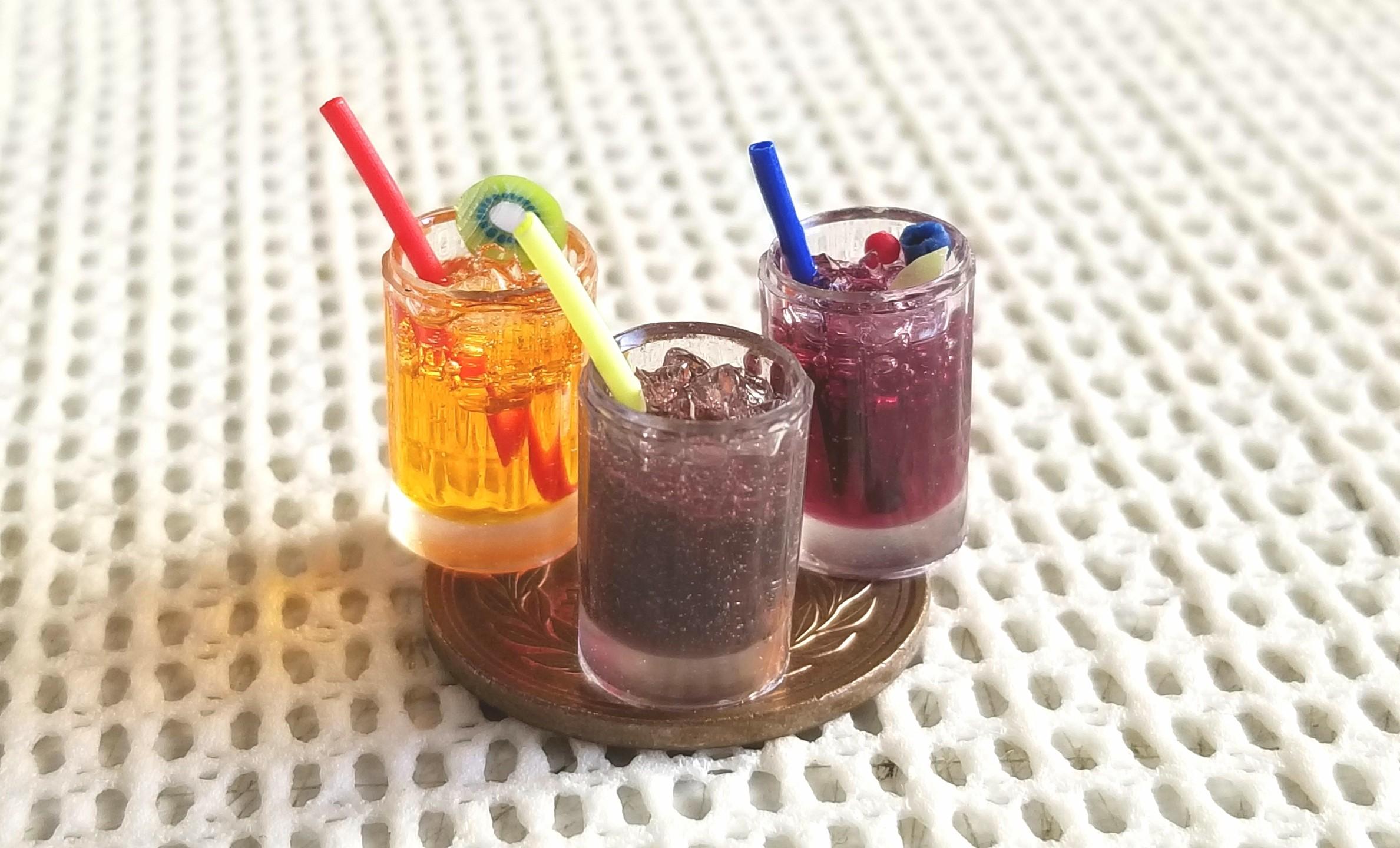 コーラ,ジュース,カクテル,作り方,レジン,ドリンク,オレンジ,ぶどう