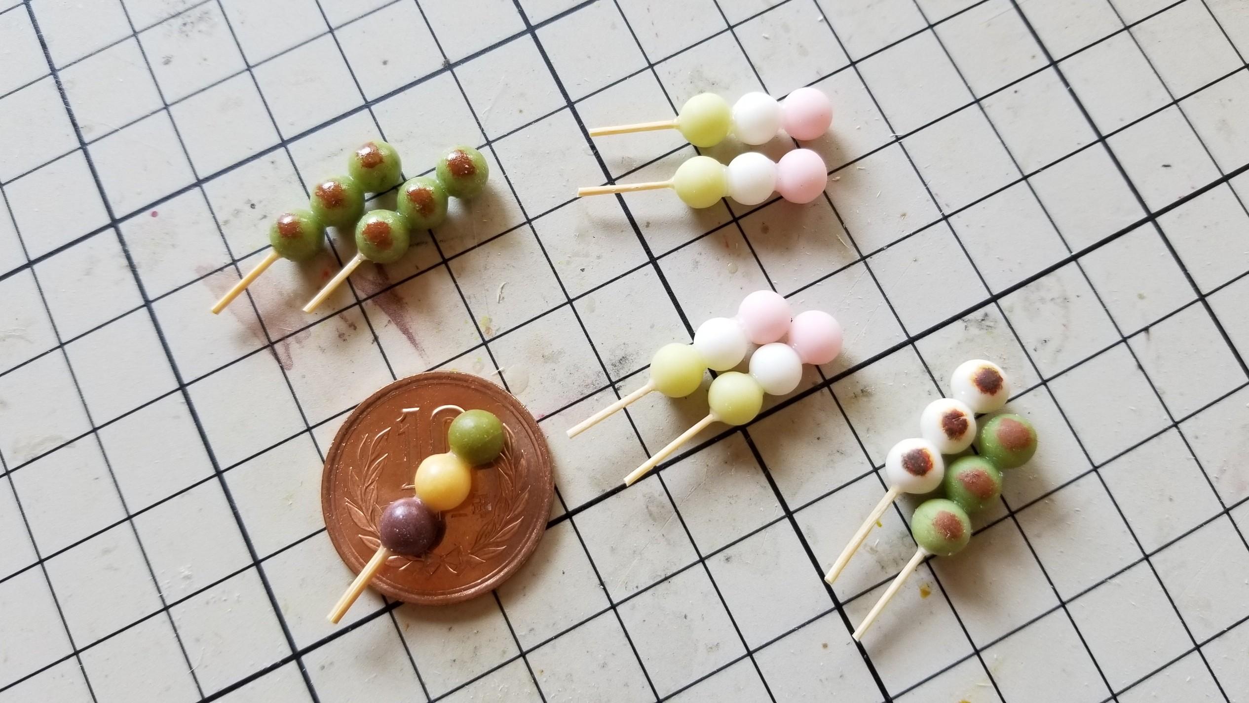 ミニチュアフード和菓子お団子春らしい食べ物小さい甘味かわいい