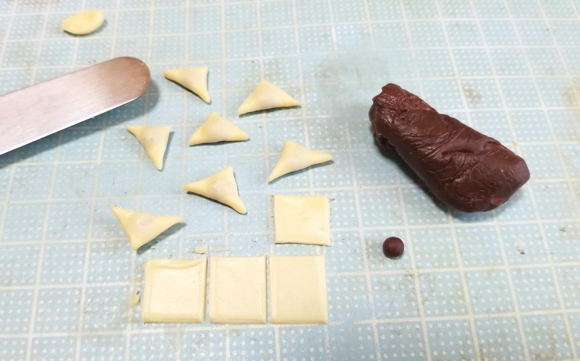 ミニチュア, 八ツ橋, 作り方, 製作過程, 和菓子, ハンドメイド