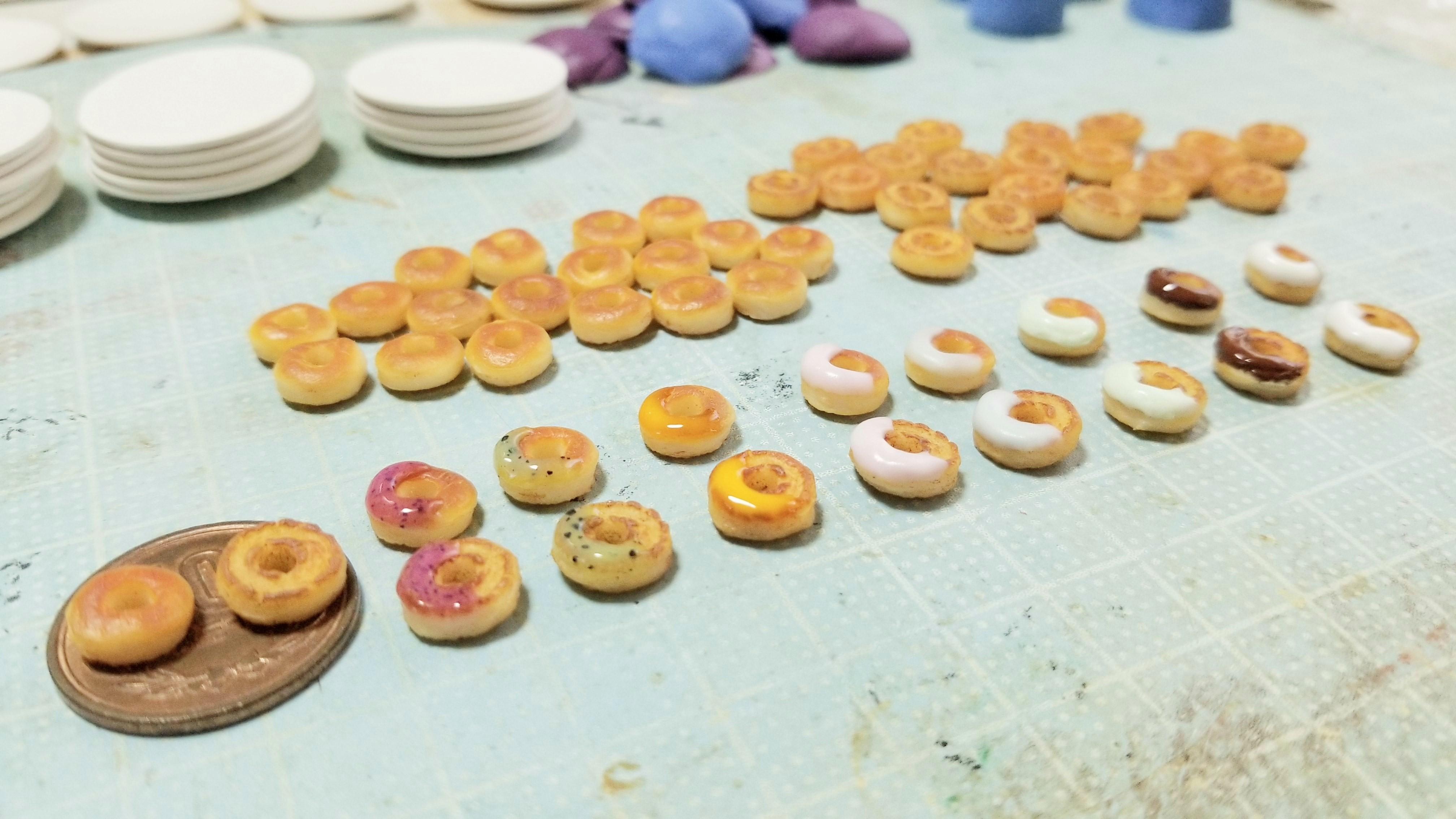 ミニチュア食品サンプル大好き可愛い手作りドーナツスイーツお菓子