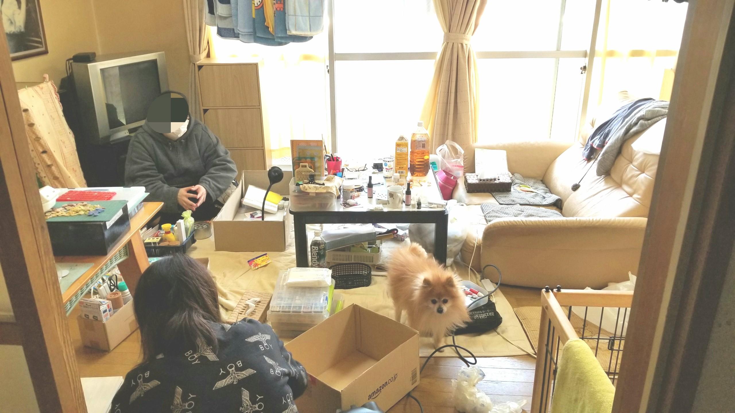 汚い部屋片付け方,ぐちゃぐちゃ,綺麗に,ワンルーム,一人暮らし手伝い