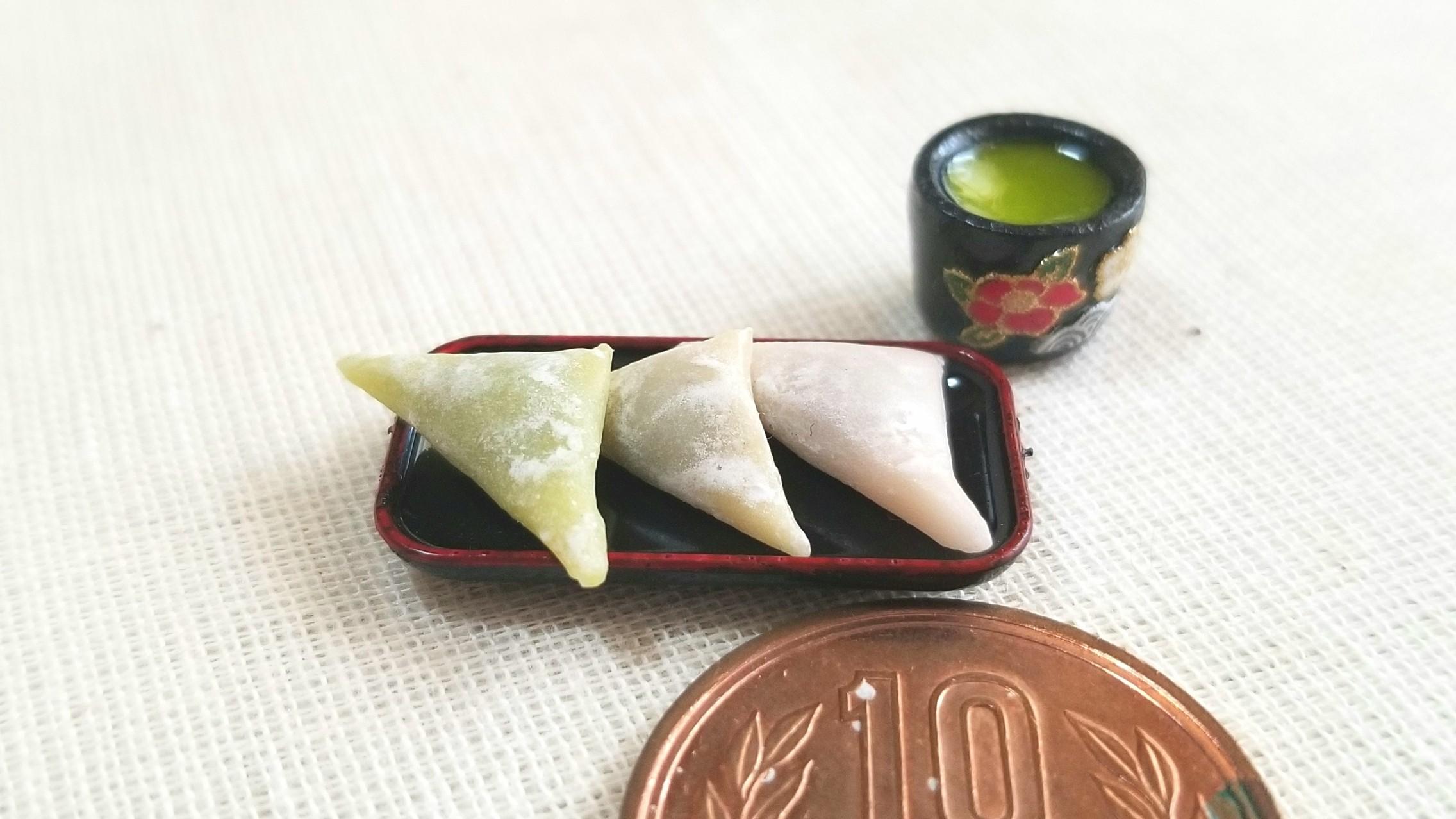 生八ッ橋,和菓子,ミニチュアフード,抹茶,ミンネで販売中,樹脂粘土