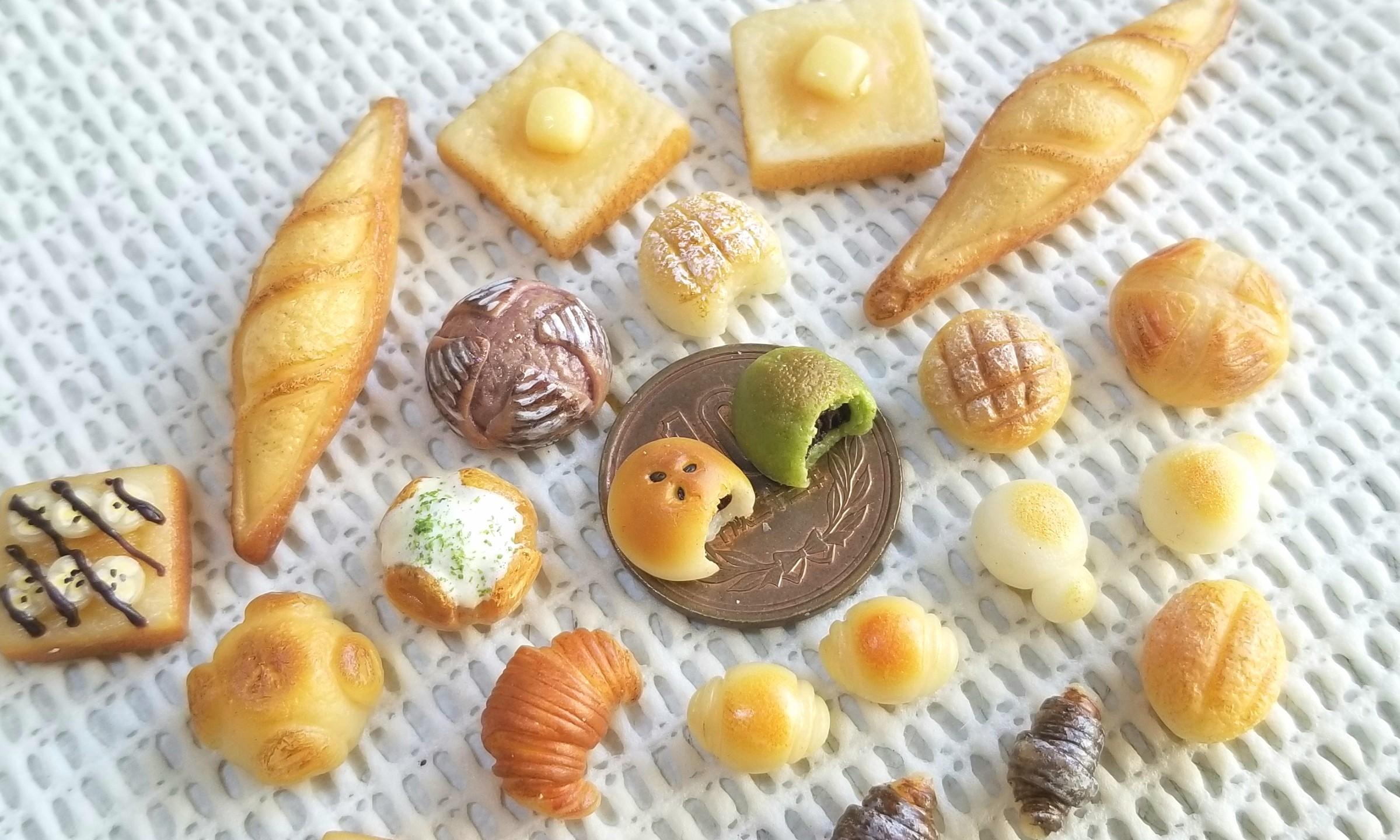 ミニチュアフード,パン,樹脂粘土,フェイクフード,食品サンプル