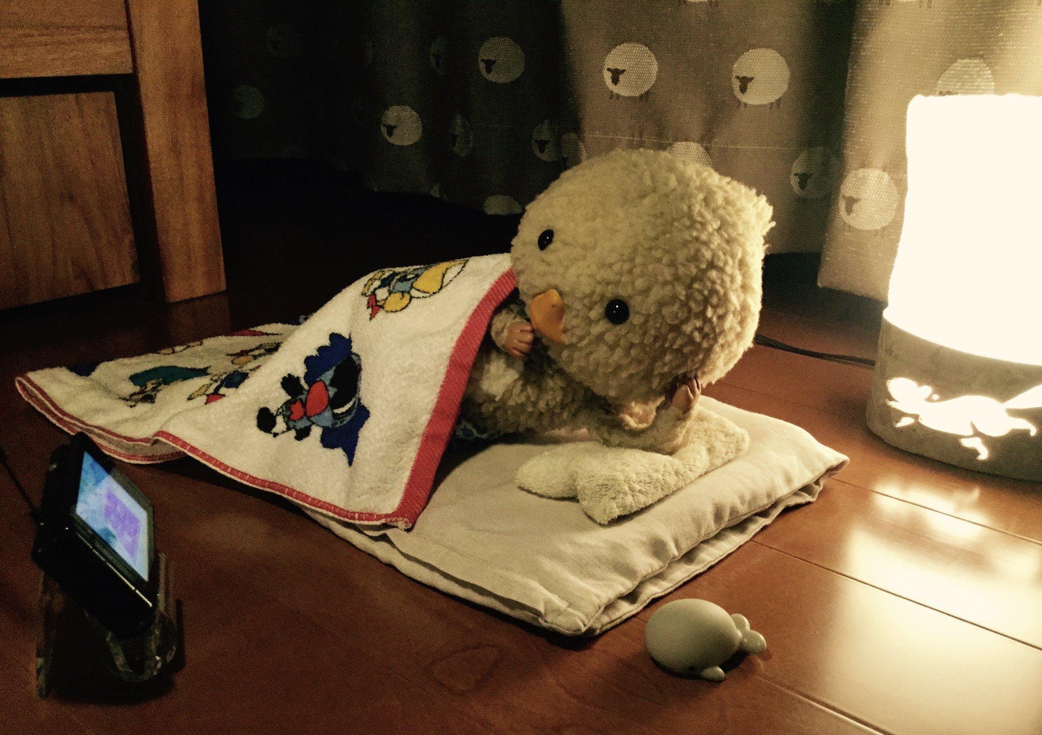 東京トガリくん,映画サマーウォーズを観てる,布団の中で