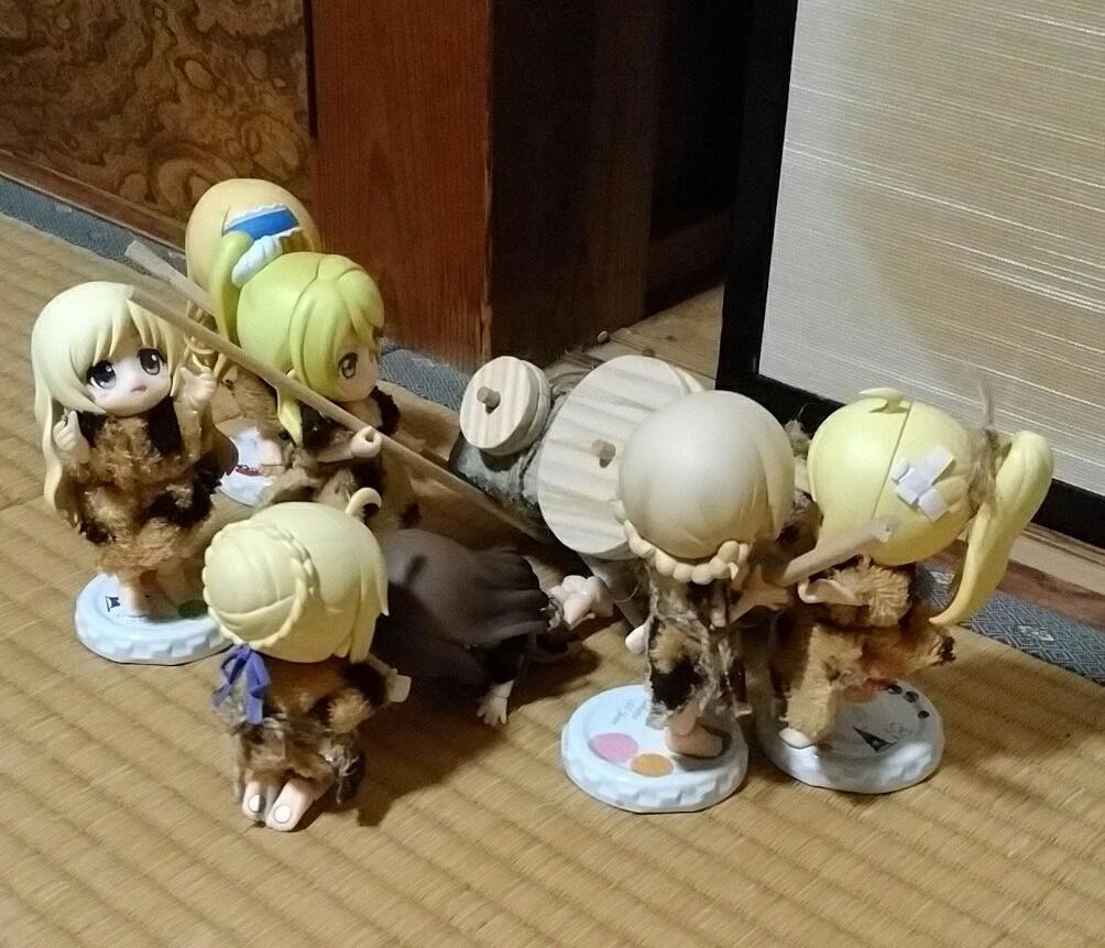 犯人逮捕,かわいいキューポッシュ原始人,ドール用小物人形おもちゃ