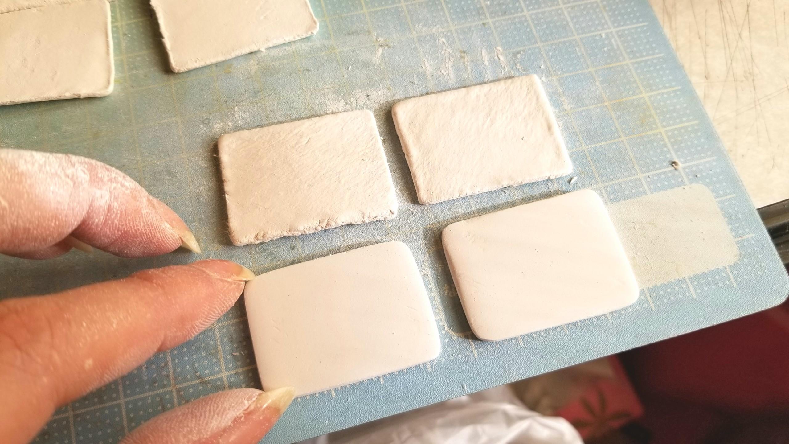 陶器風和食器,和菓子用のお皿,粘土,ミニチュアフード,作り方,手作り