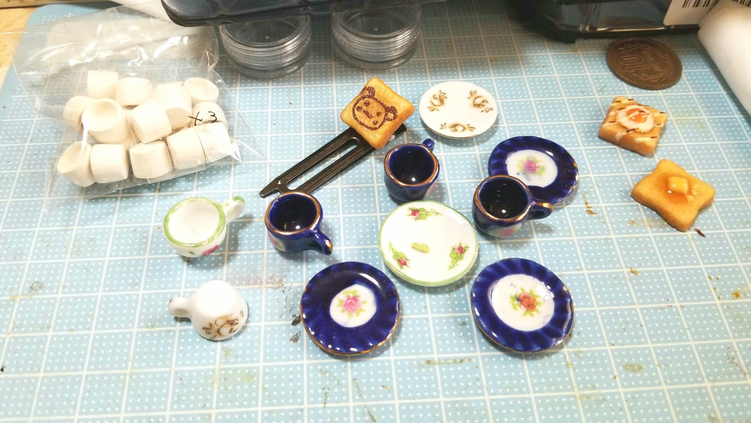 ミニチュアフード,ドール用品小物おもちゃ,飲み物,作り方,レジン作業
