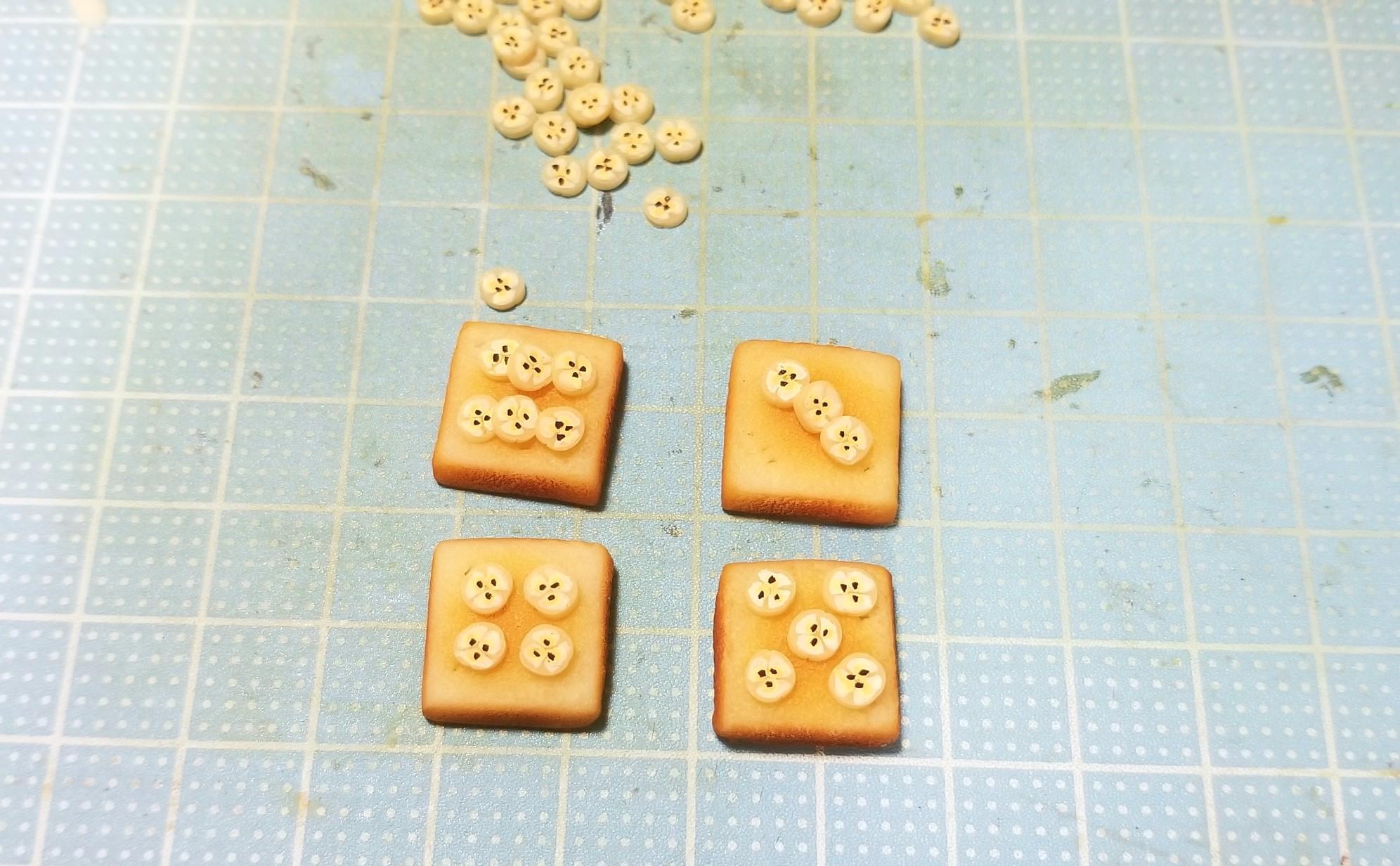 ミニチュアフード,チョコバナナトースト,食パン,作り方,フェイク