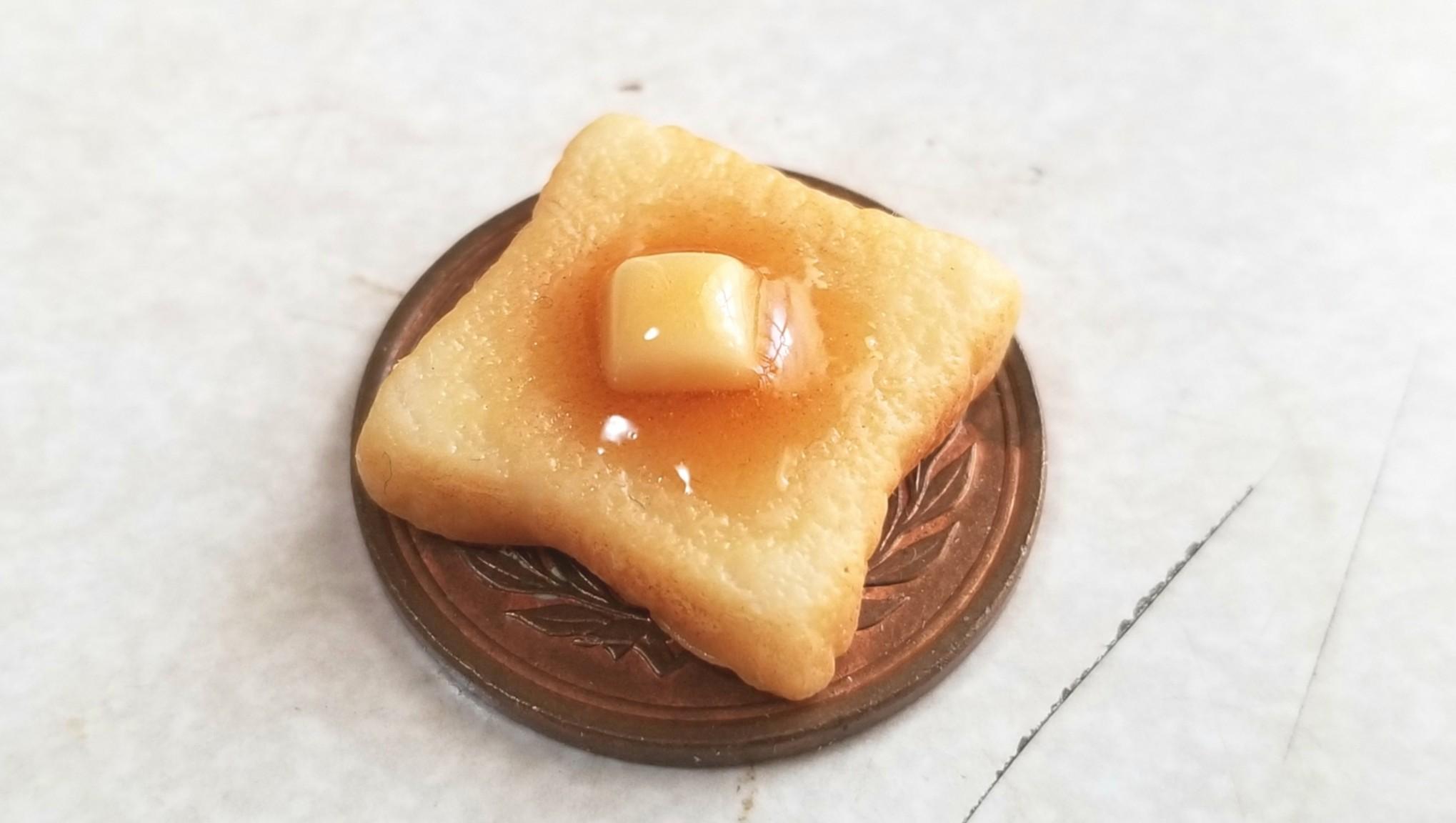 美味しそうなおいしいパン,カリカリ超熟手作りバタートースト,粘土