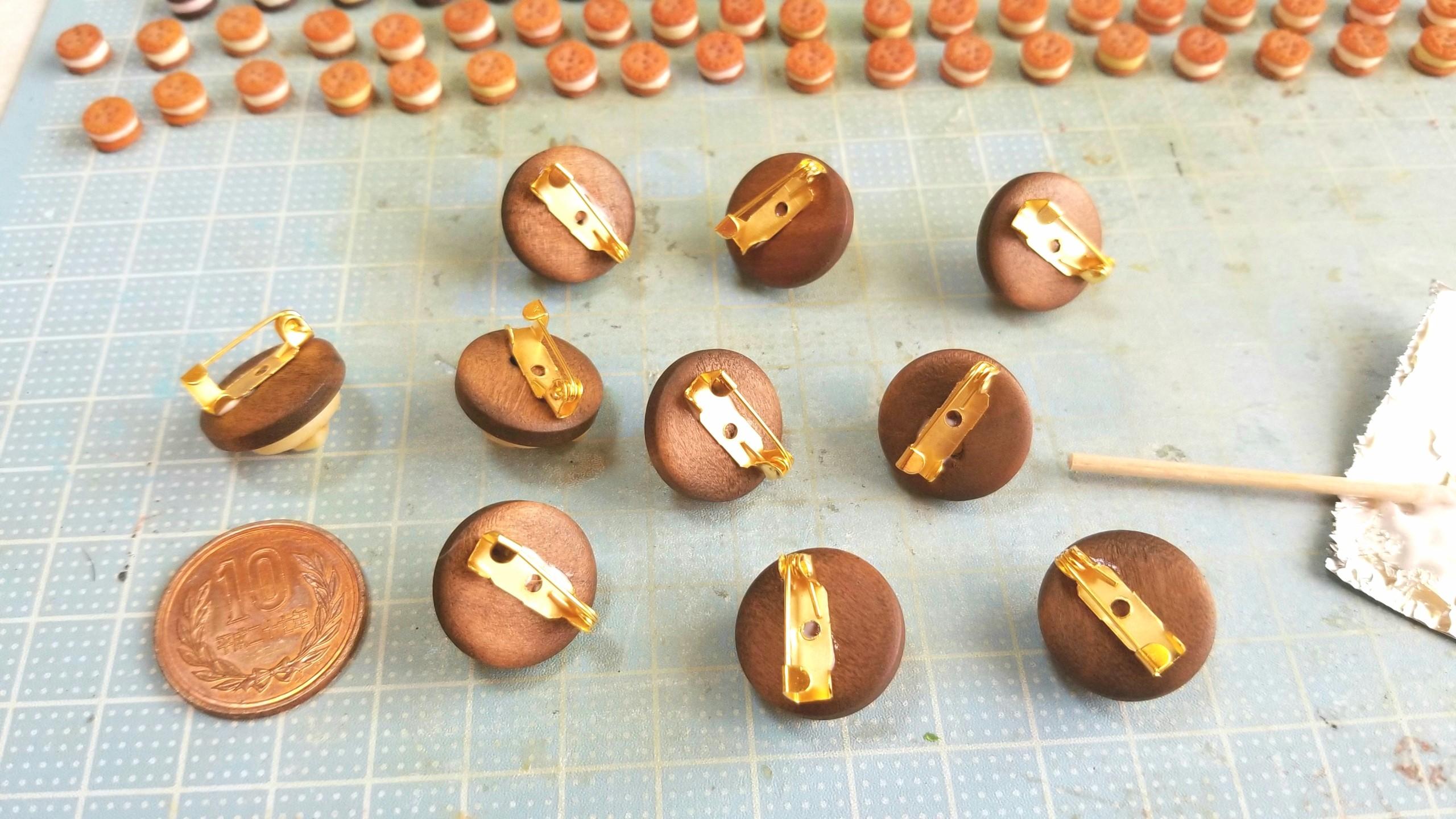 ブローチ,アクセサリー,作り方,ミニチュアフード,樹脂粘土,可愛い