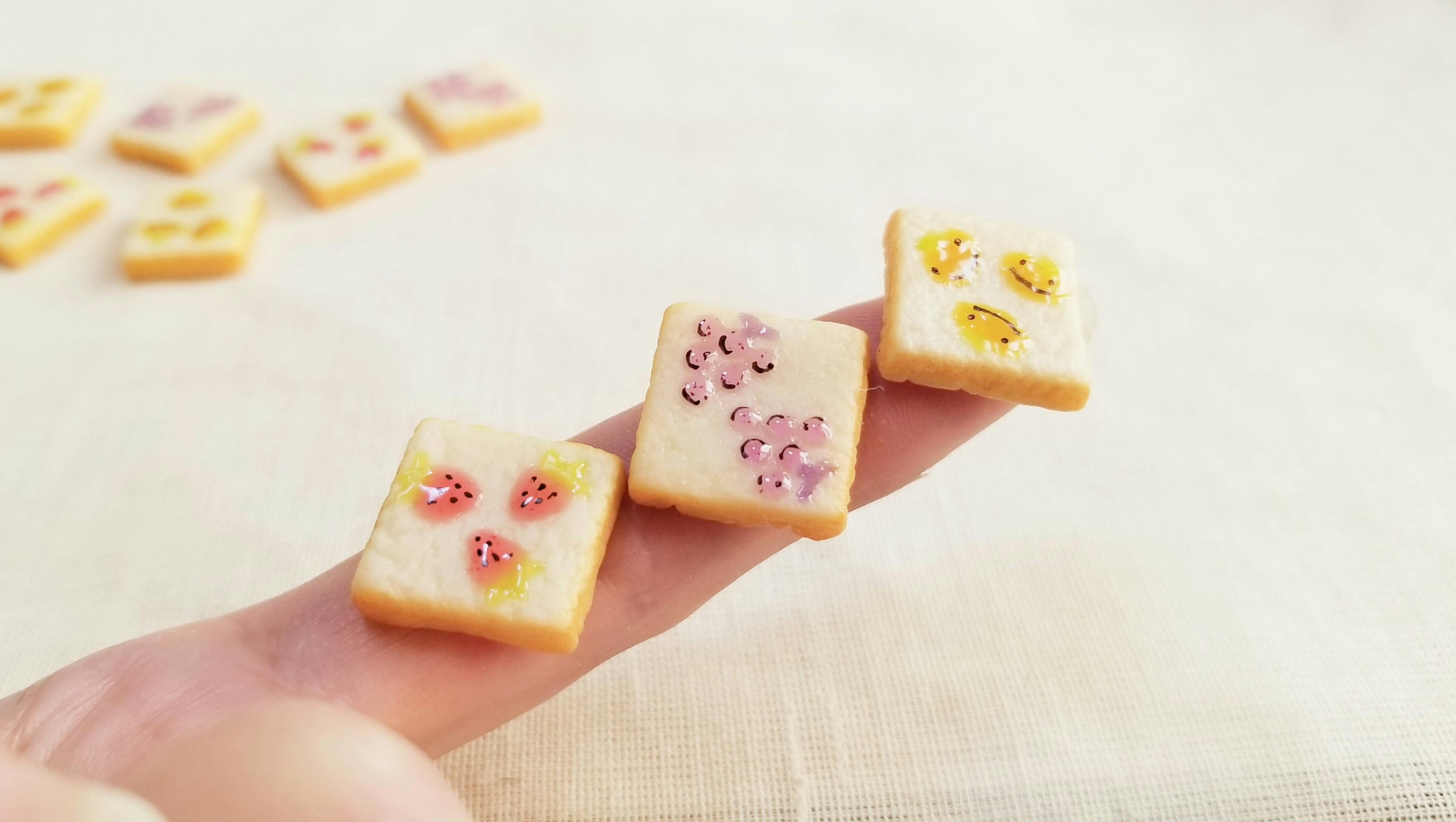 かわいいドール用小物ミニチュア食パンおすすめ人気柄トーストミンネ