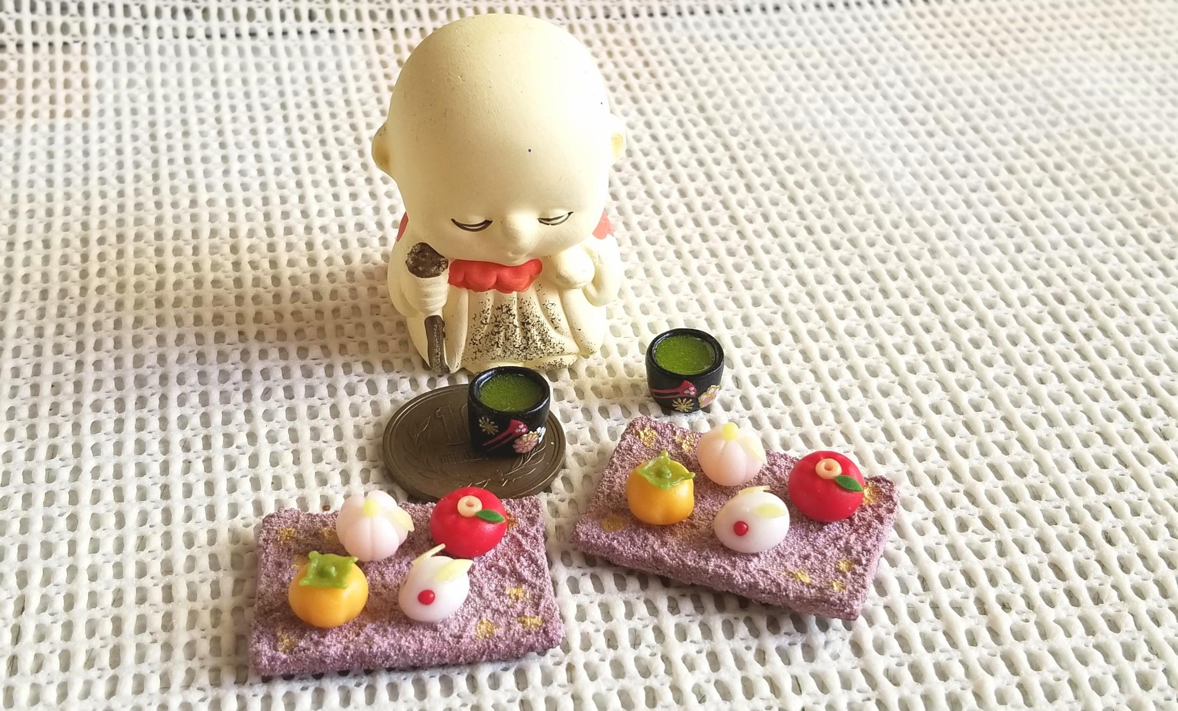和菓子,ドール,ミニチュア,ミニチュアフード,樹脂粘土,オビツ11