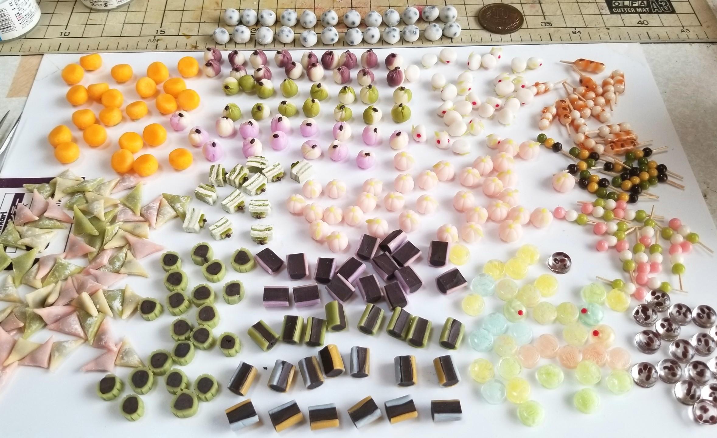 ミニチュアフード,和菓子,生菓子,上菓子,樹脂粘土,レジン,サンプル