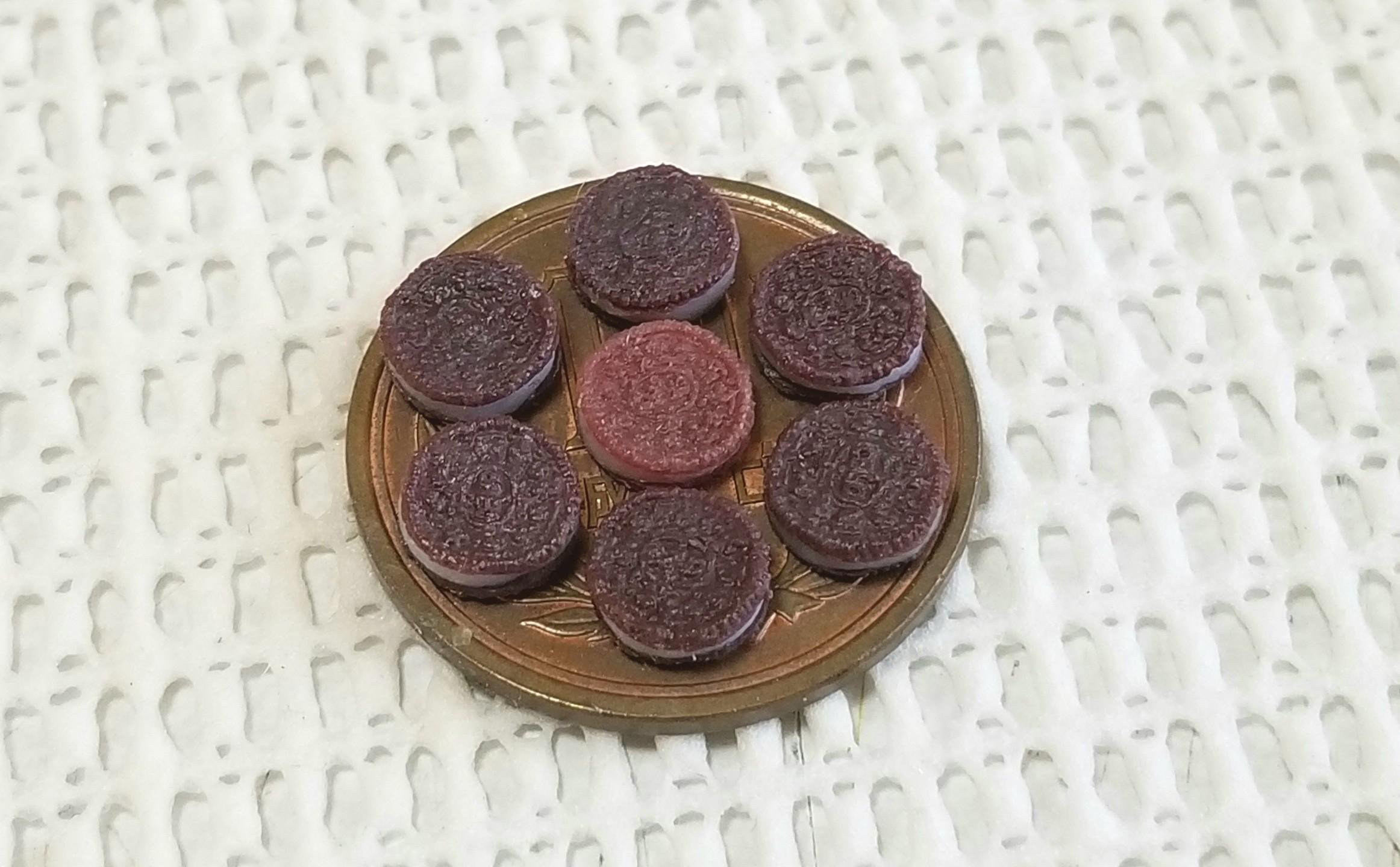 オレオ, ミニチュア, 樹脂粘土, B級品, ミンネ, ハンドメイド