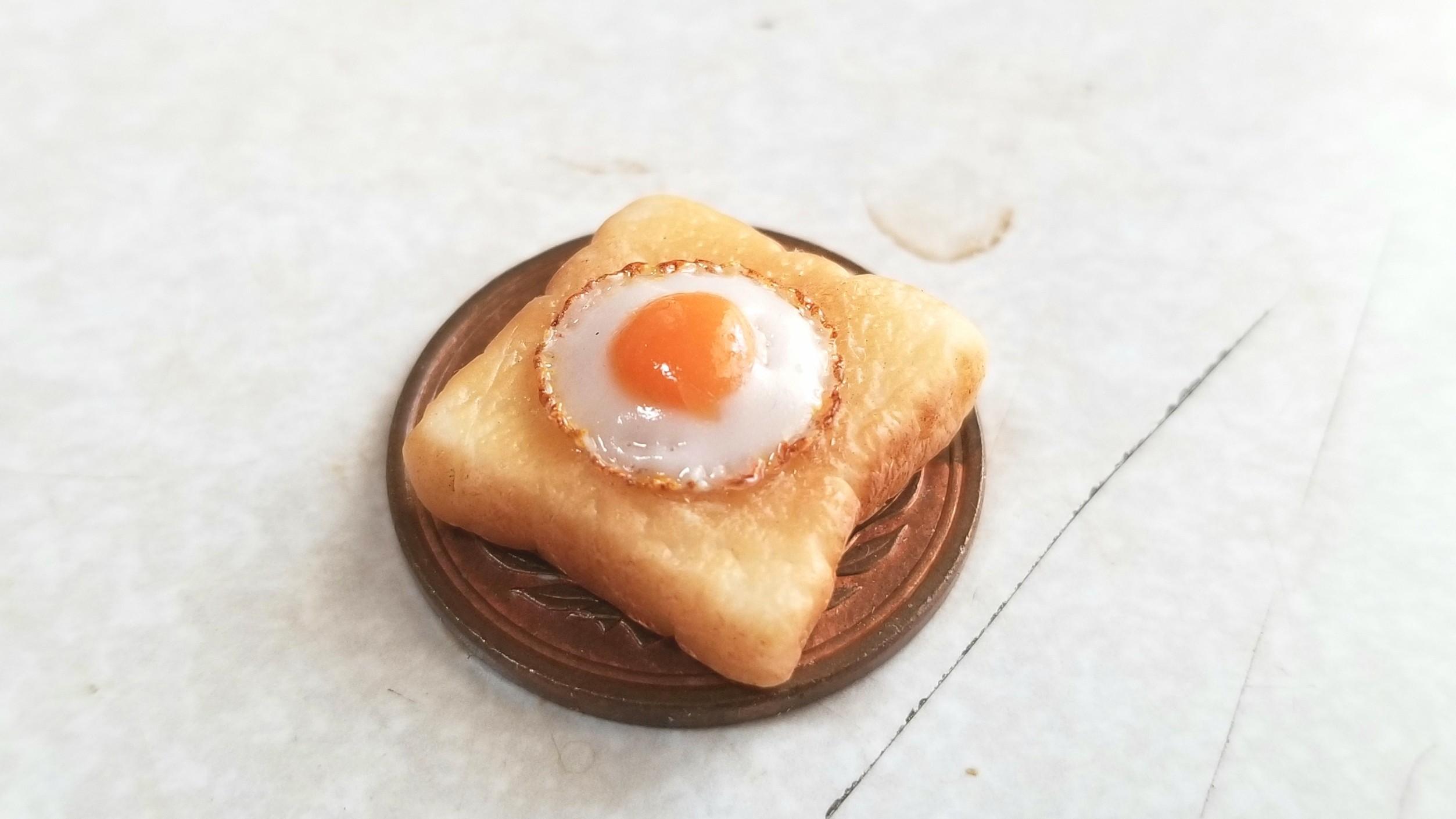 ミニチュアフードラピュタパン,トースト,樹脂粘土,ミンネ人気商品