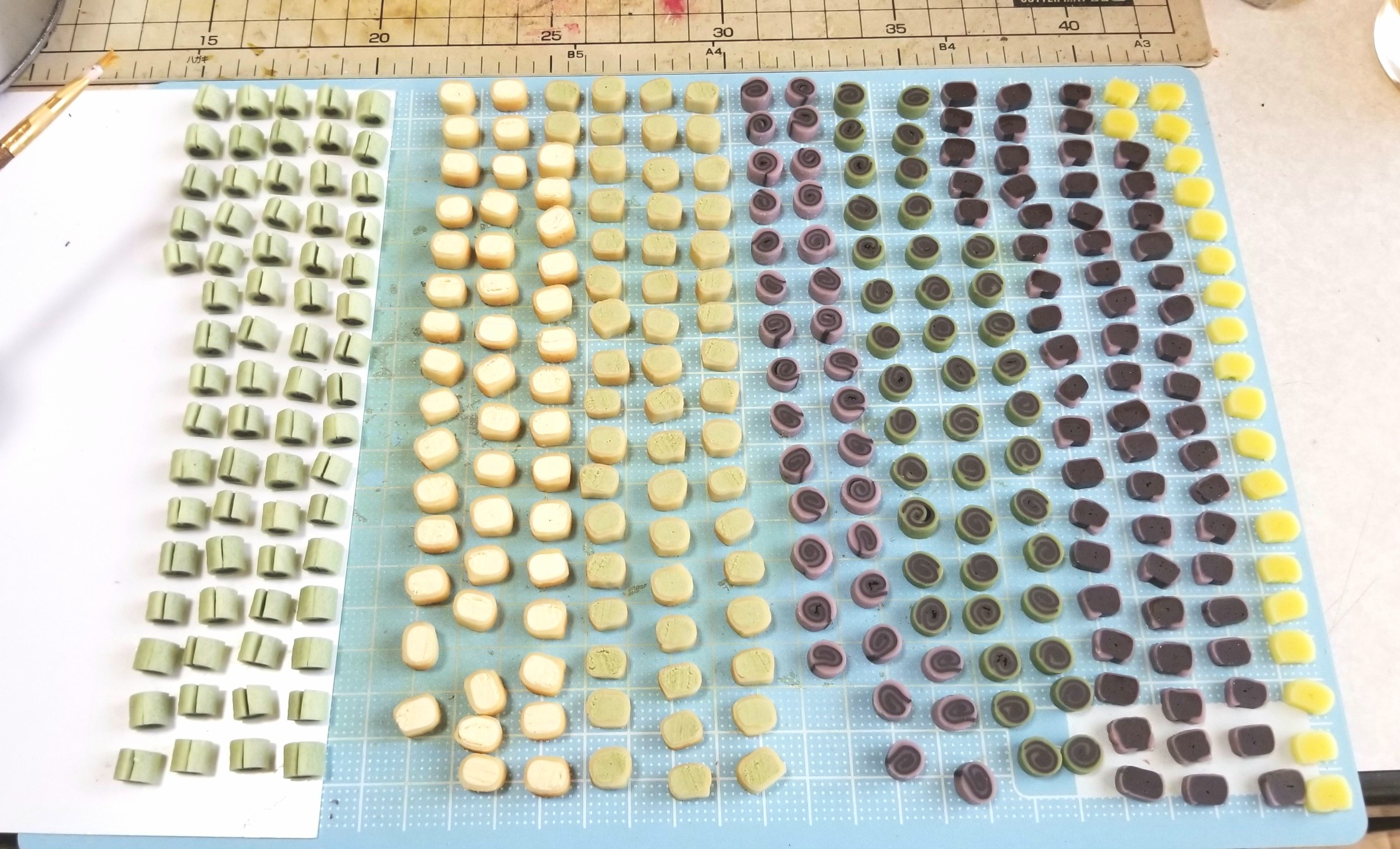 ミニチュア,和菓子,上生菓子,樹脂粘土,ねんどろいど,オビツ11