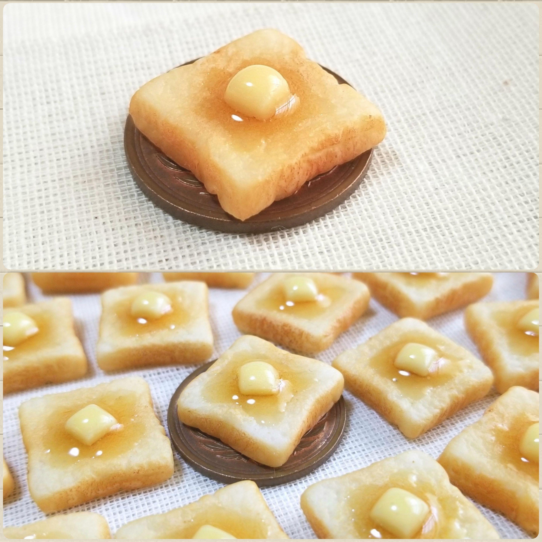 ミニチュアフード,バタートースト,パン,樹脂粘土,ミンネで販売中