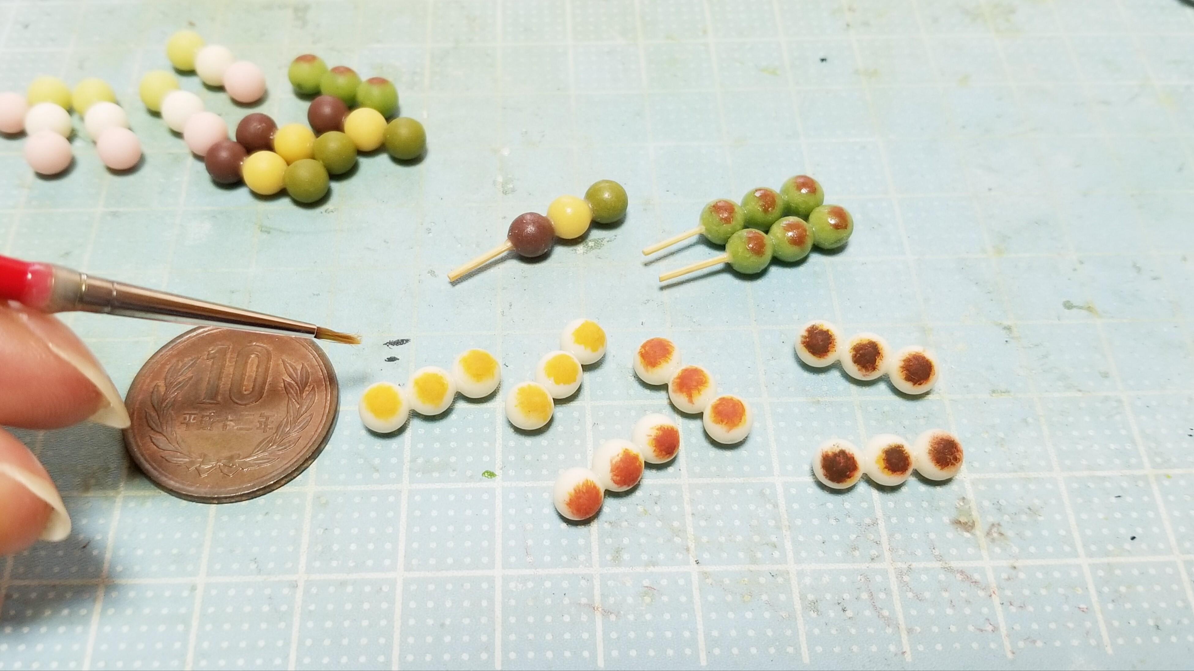 ミニチュアフード作家樹脂粘土かわいいハンドメイド小物手作り和菓子