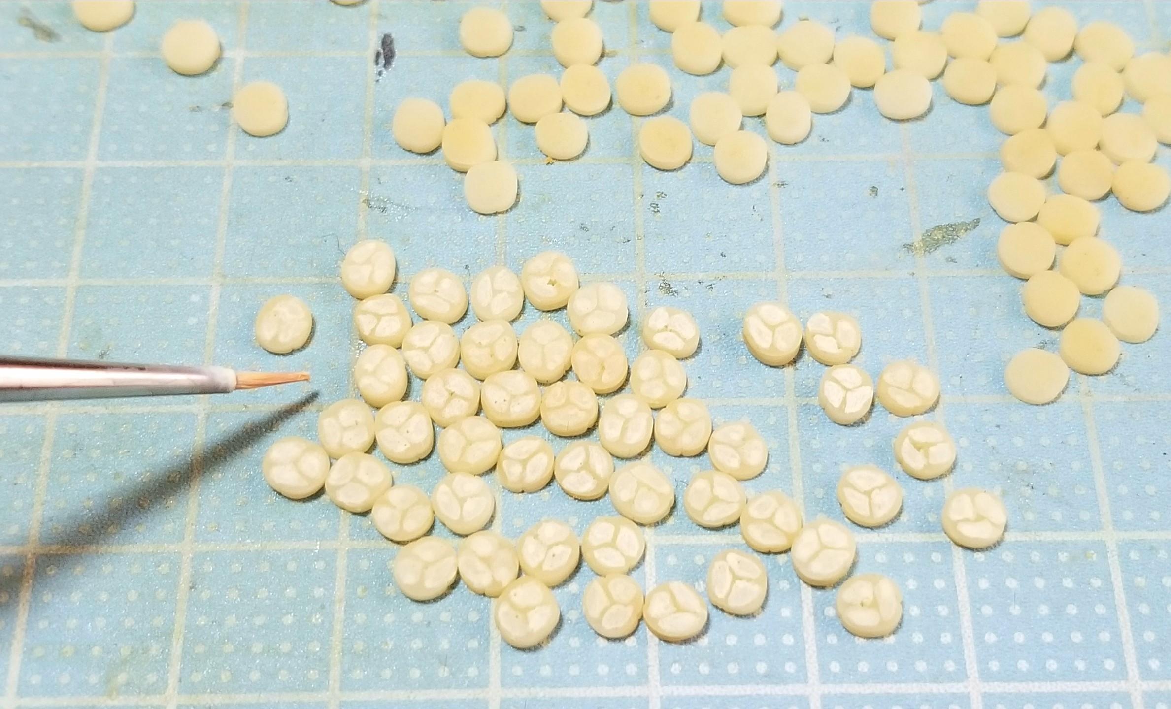 ミニチュアフード,スライスバナナ,作り方,着色,樹脂粘土,ドール