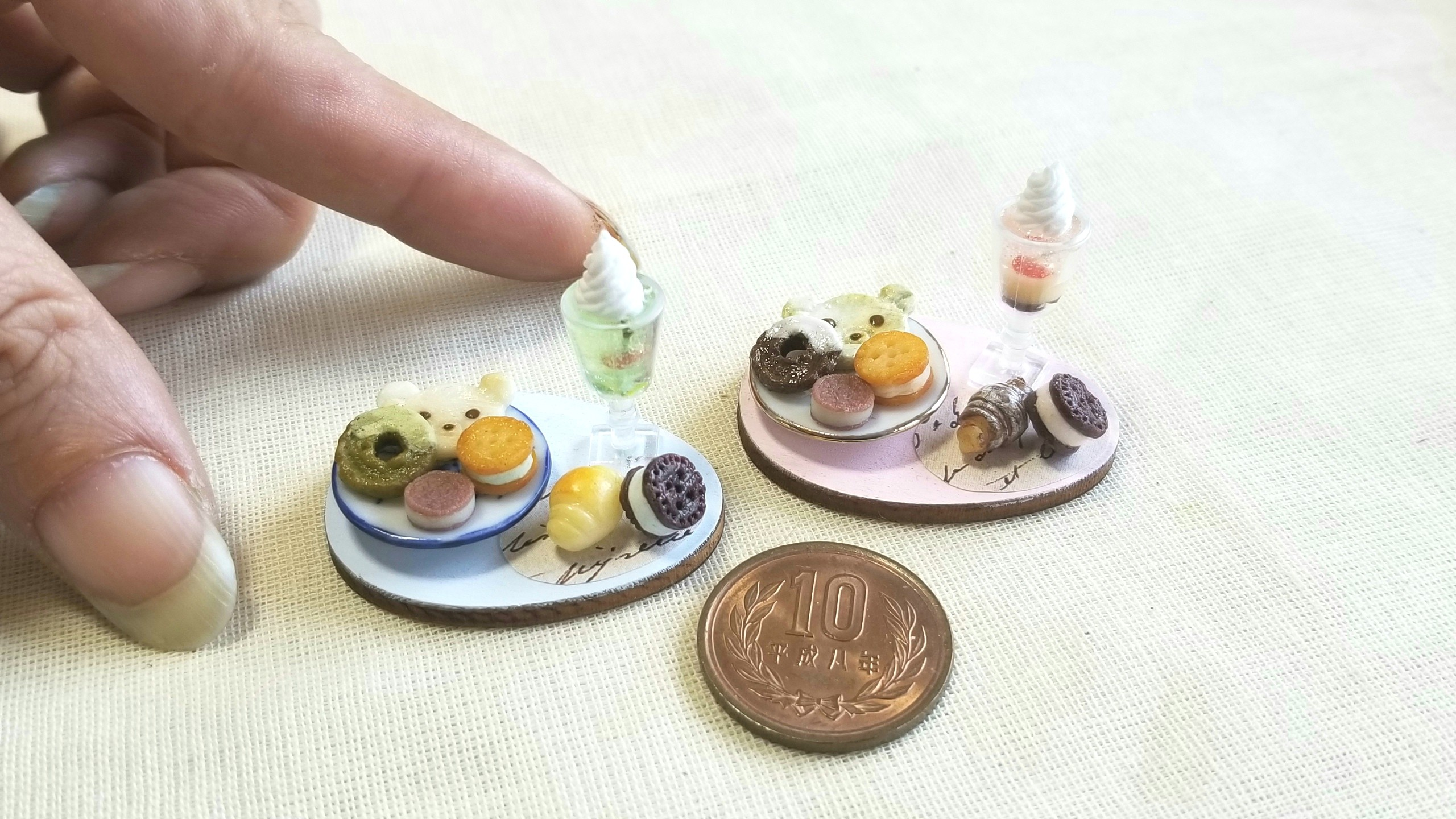 よもぎのミニチュアフード,スイーツお菓子クッキー,樹脂粘土,ブログ
