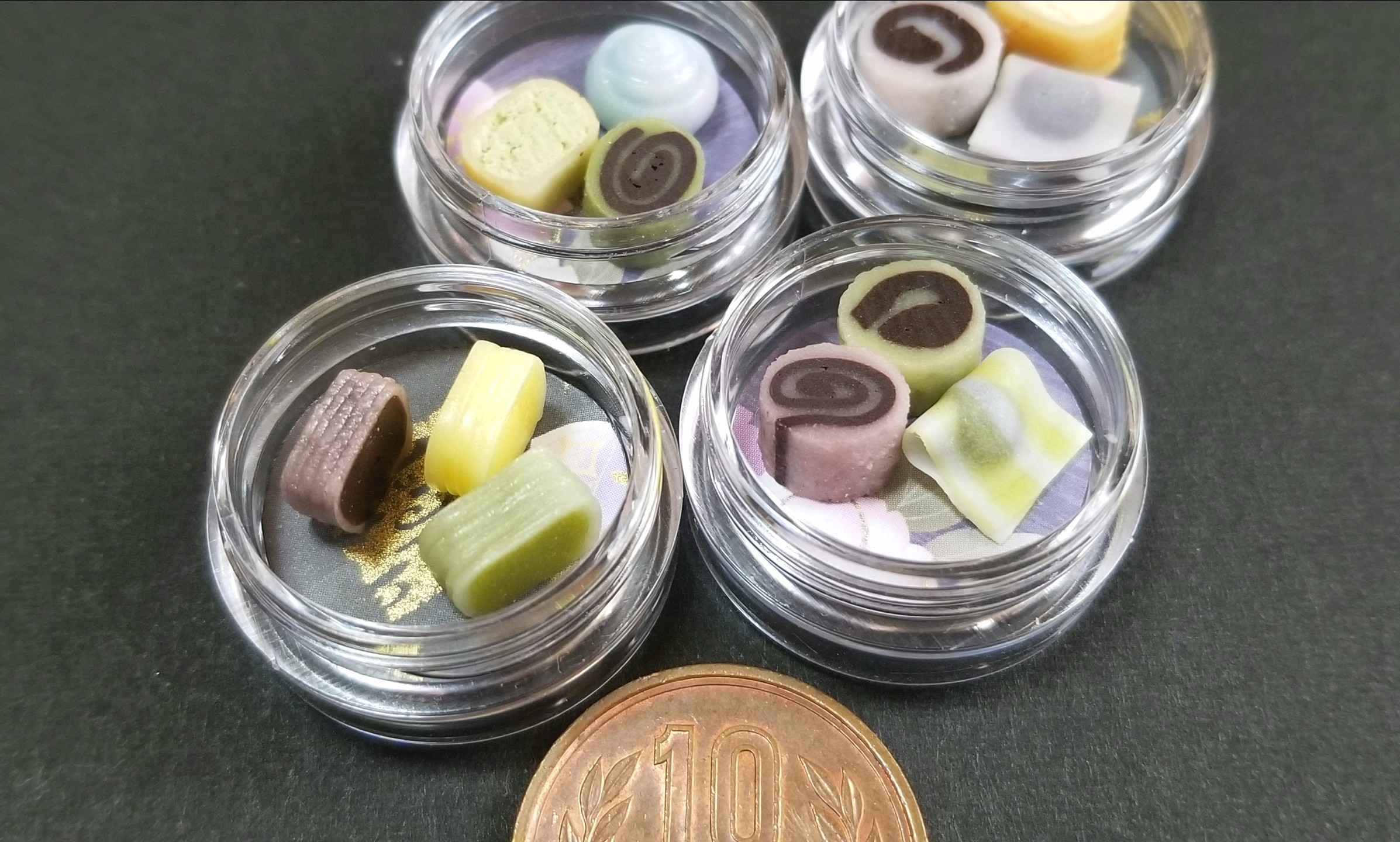 和菓子,ミニチュア,樹脂粘土,ブライス,シルバニア,オビツろいど