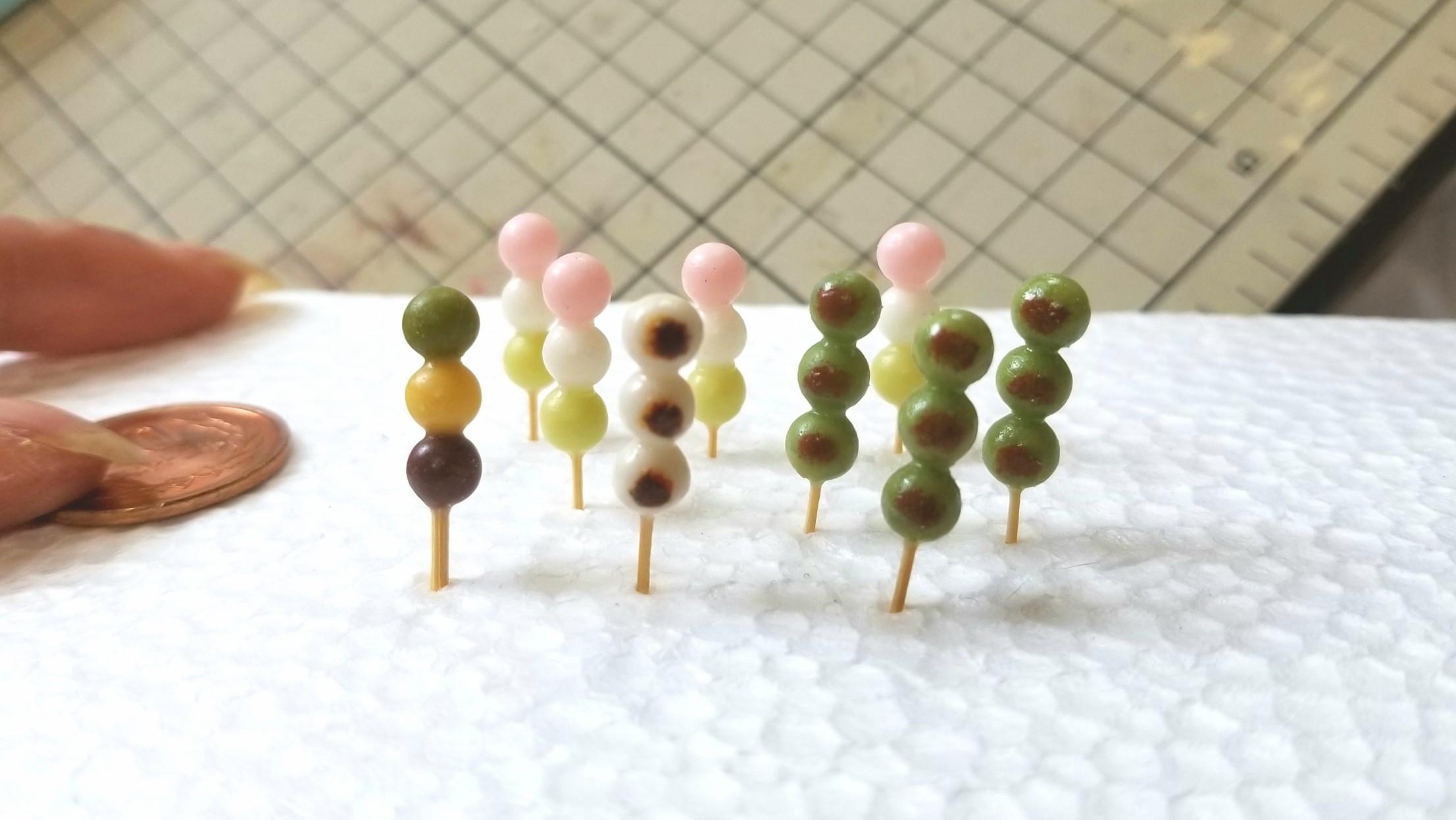 ミニチュアフード和菓子甘味お団子かわいいドール用品小物おもちゃ