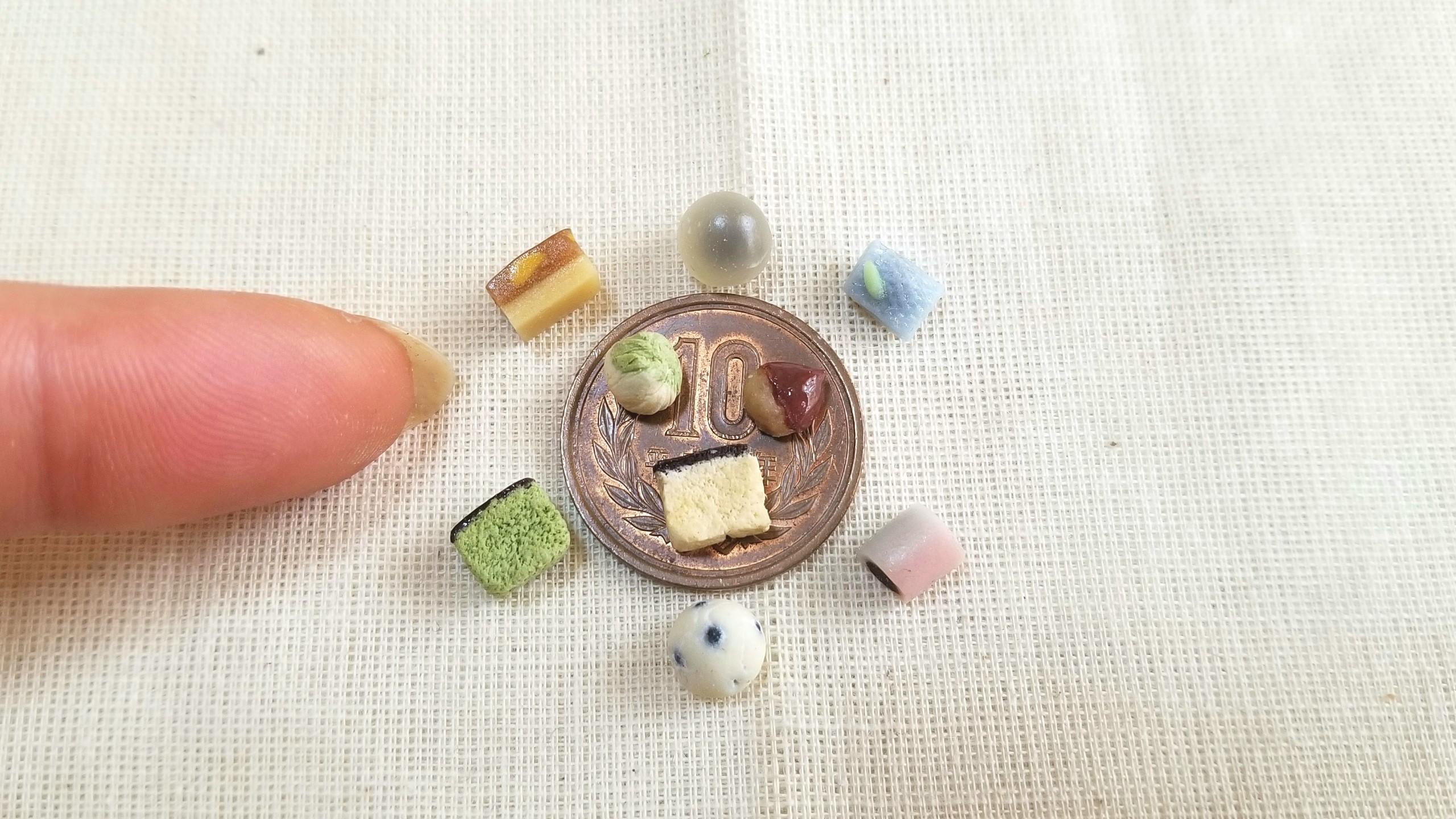 ミニチュア,和菓子,樹脂粘土,ドールハウス,フェイクフード,サンプル