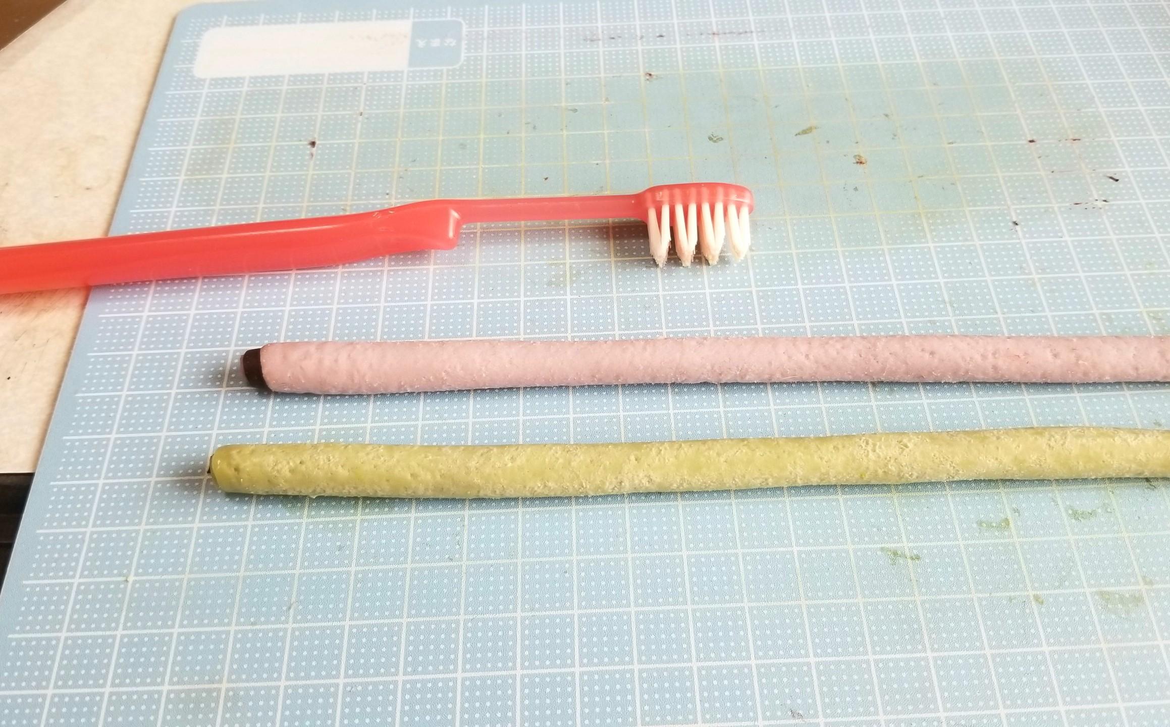 ミニチュアフード,和菓子,餡ロール,作り方,樹脂粘土,あんこ入り