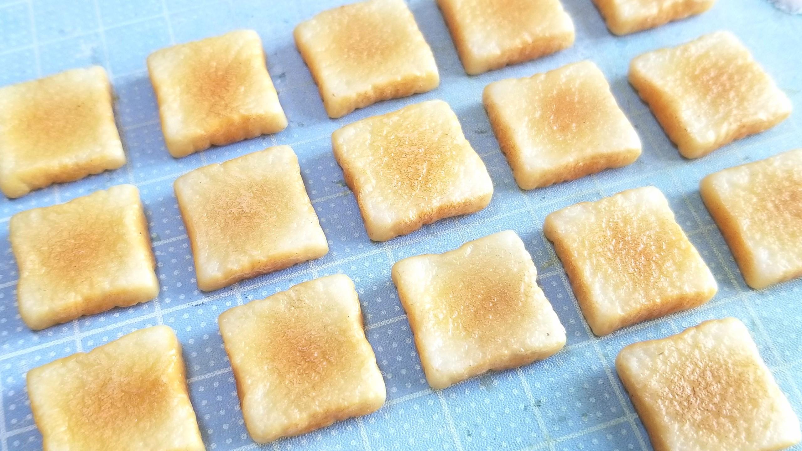 ラピュタ食パン,トースト,作り方,ミニチュアフード,樹脂粘土,人形