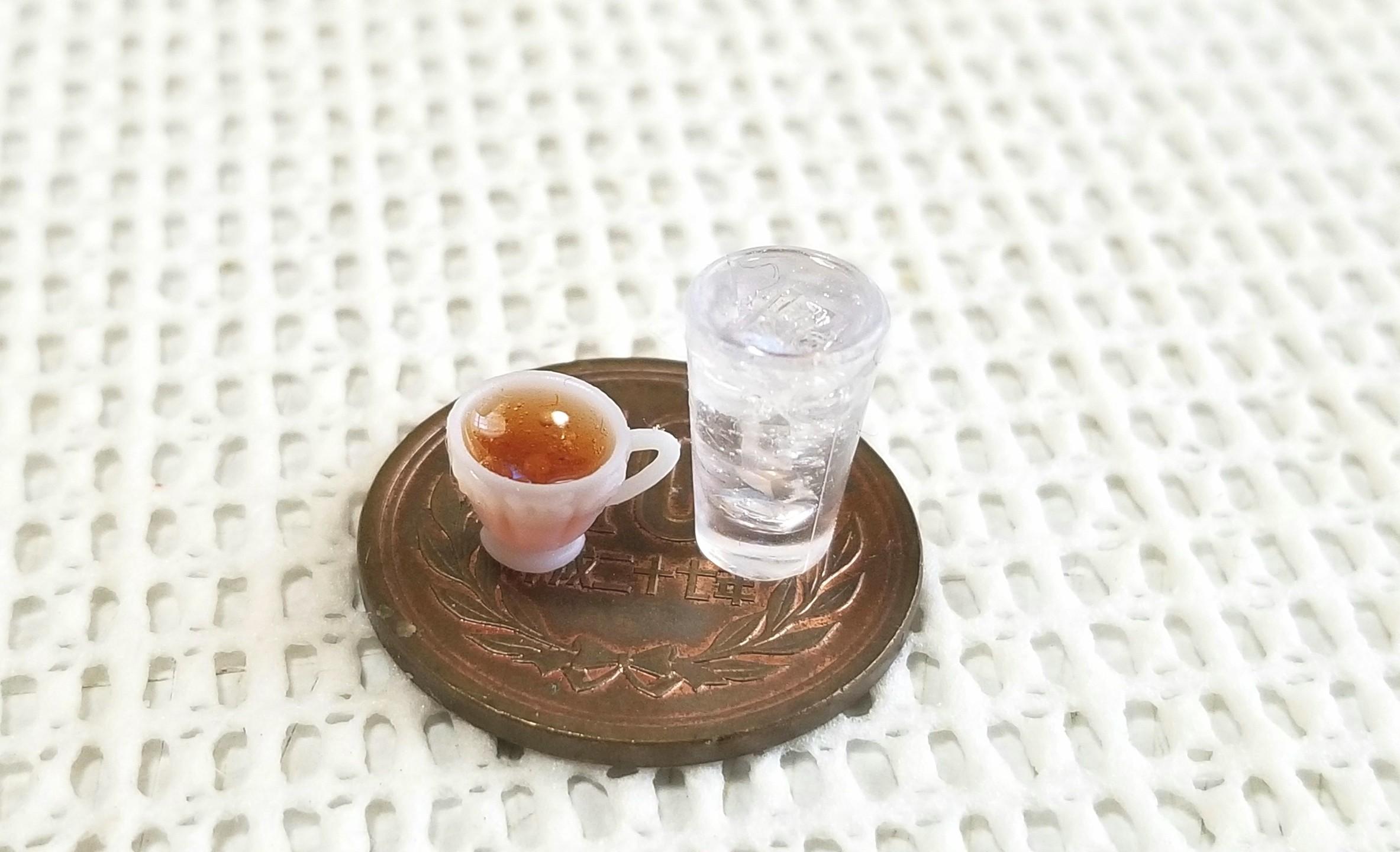 ミニチュア, ドリンク, 水, 紅茶, UVレジン, 食品サンプル