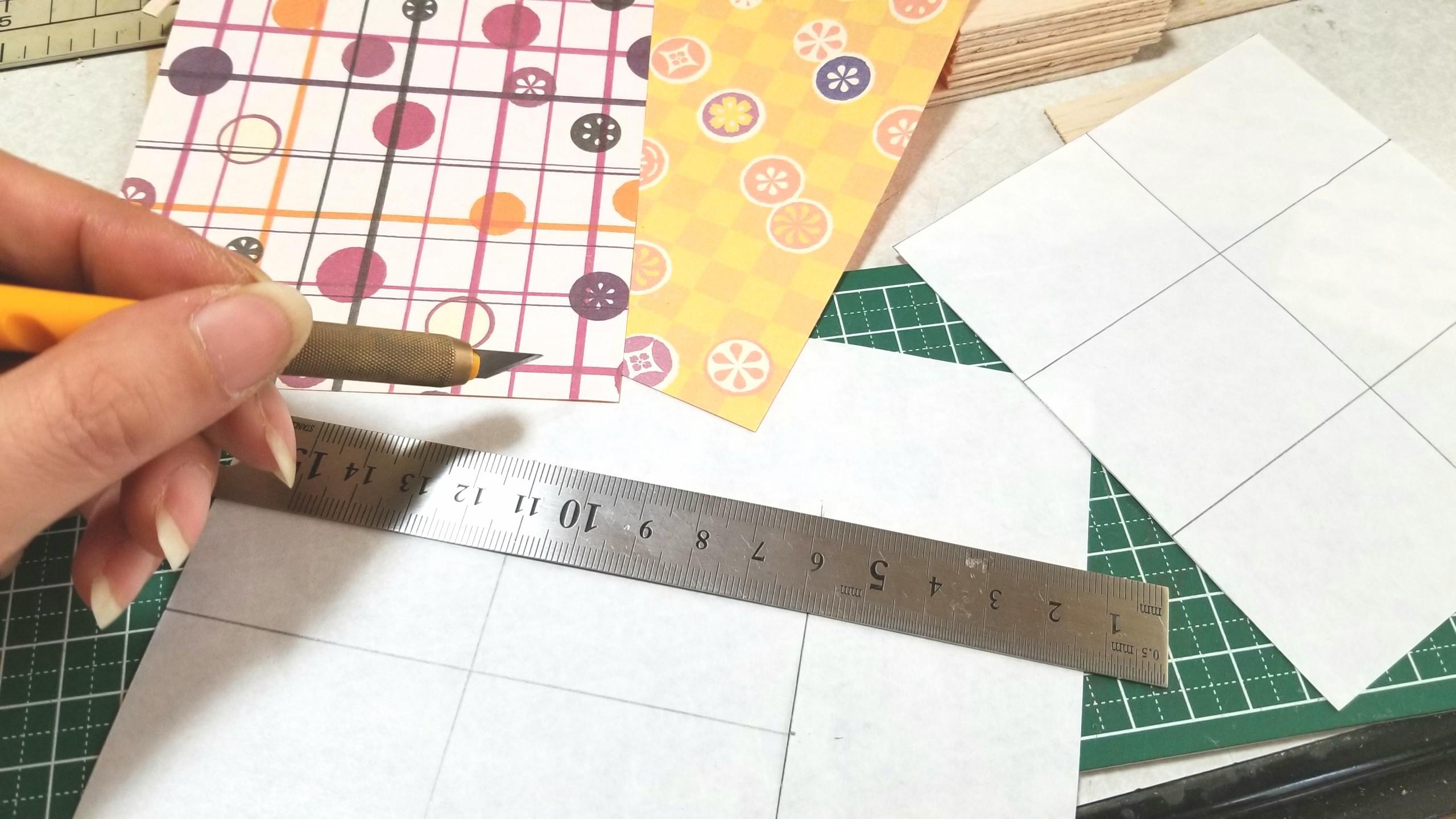 ハンドメイド,和菓子,台紙,土台,作り方,ドールハウス,千代紙