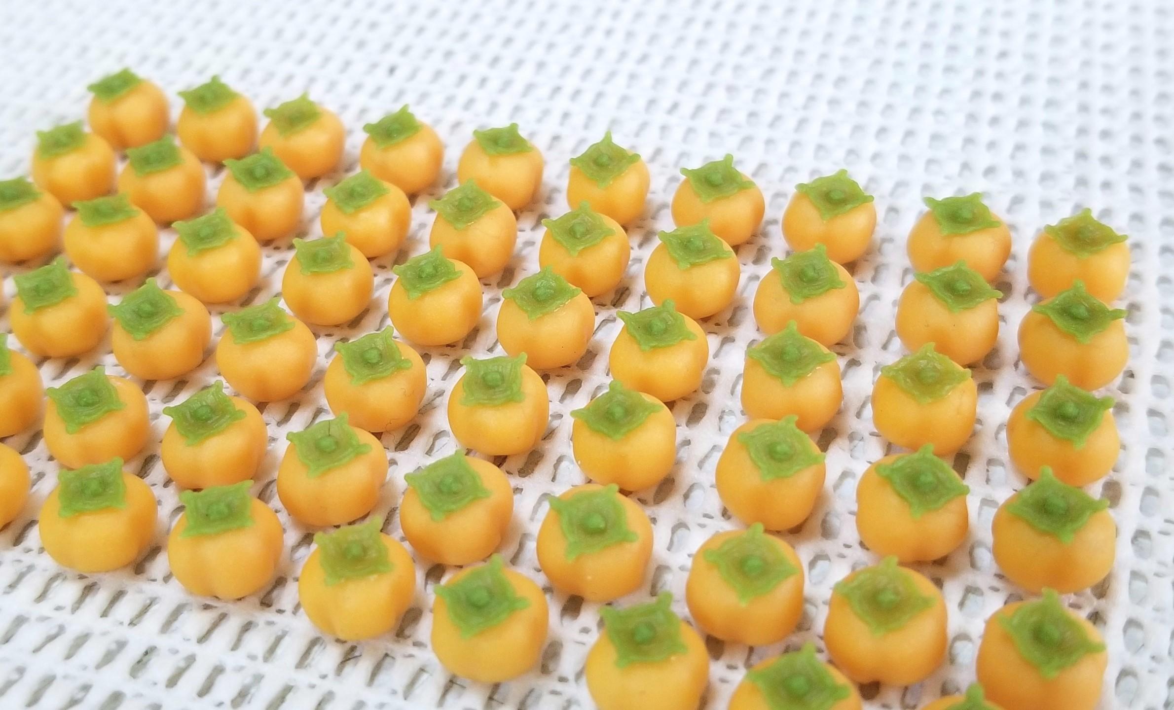 ミニチュアフード,和菓子,柿,樹脂粘土,練りきり,プーリップ系,食品