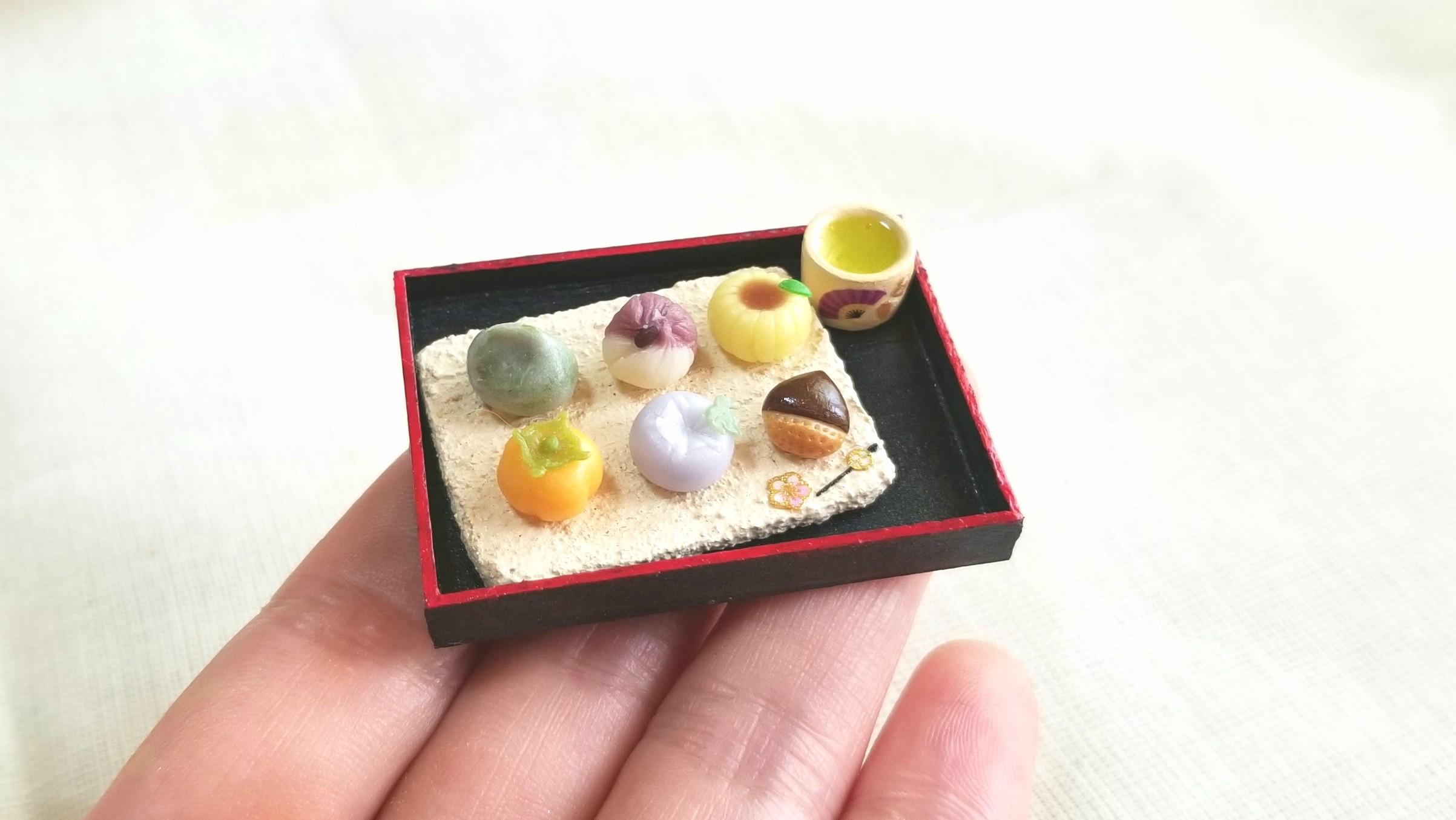 ミニチュアフード和菓子,生菓子,おいしい季節の有名茶菓,おすすめ