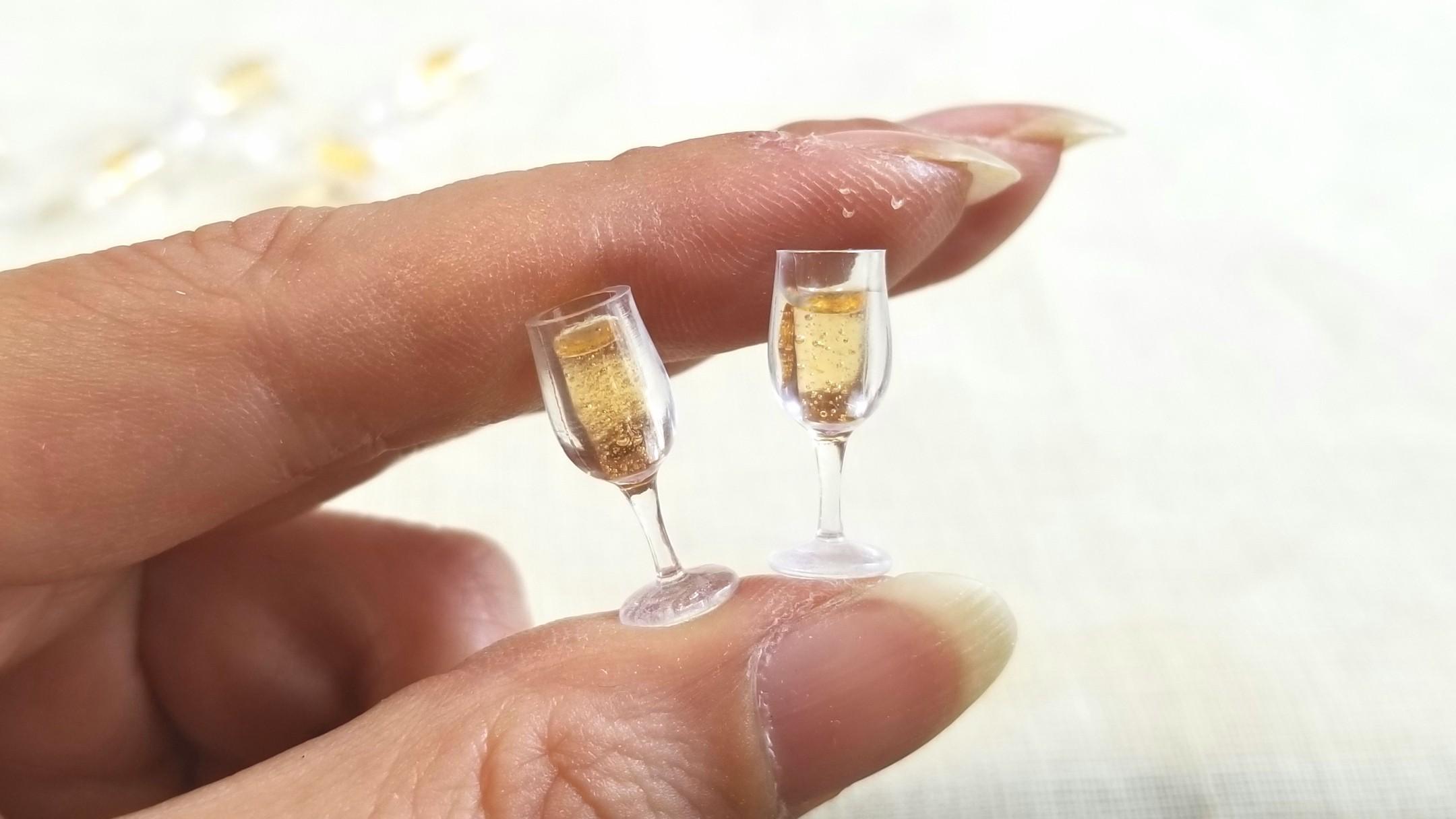 ミニチュアフードドリンクワインシャンパンドール用品小物ミンネ販売