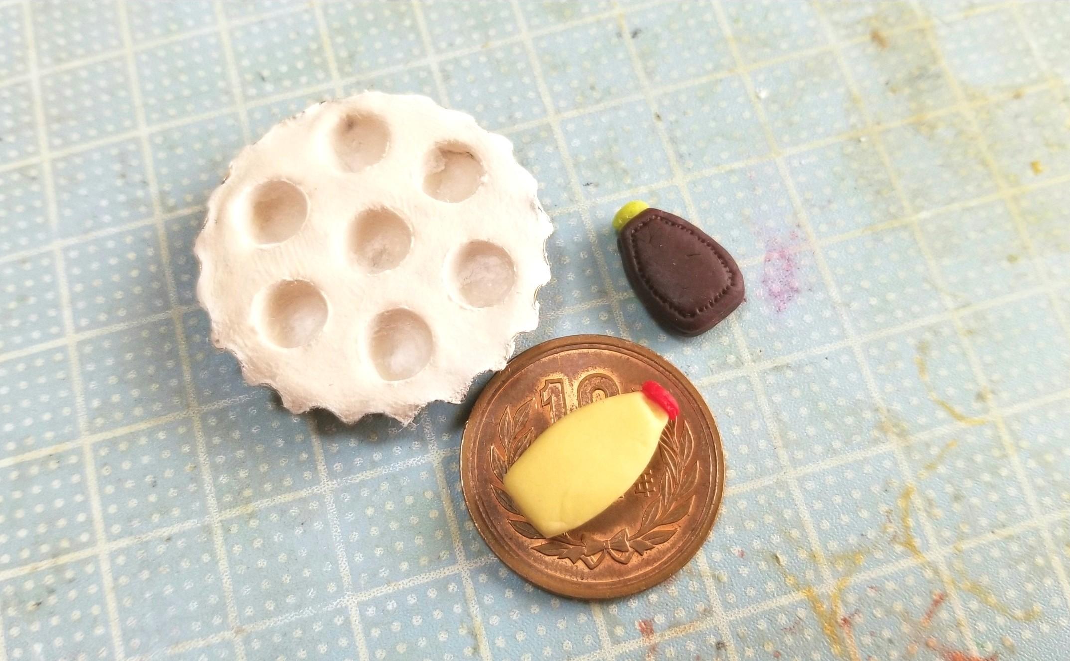たこ焼き器,作り方,ミニチュアフード,樹脂粘土,ドールハウス,人形